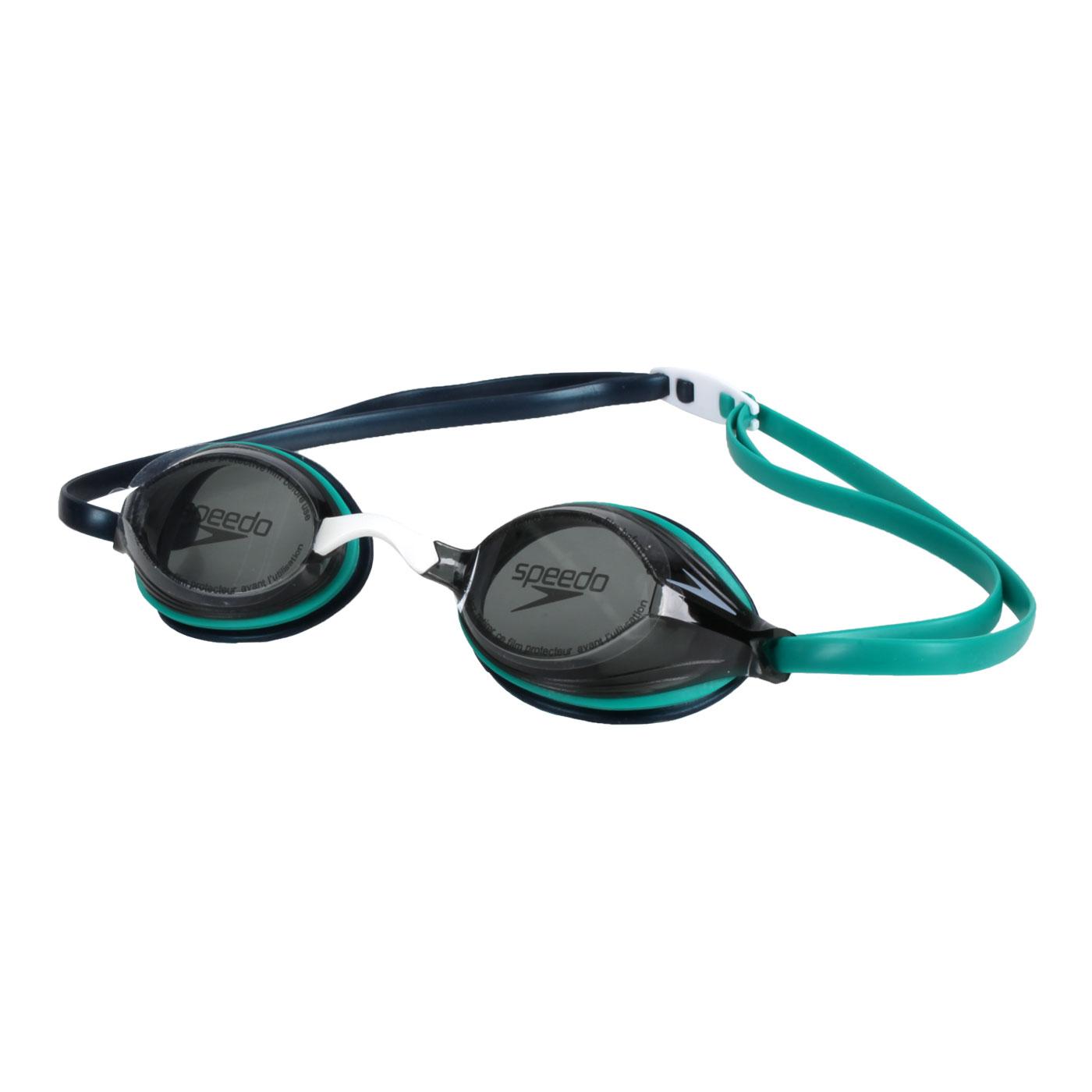 SPEEDO 成人競技泳鏡 SD811322D631 - 綠黑