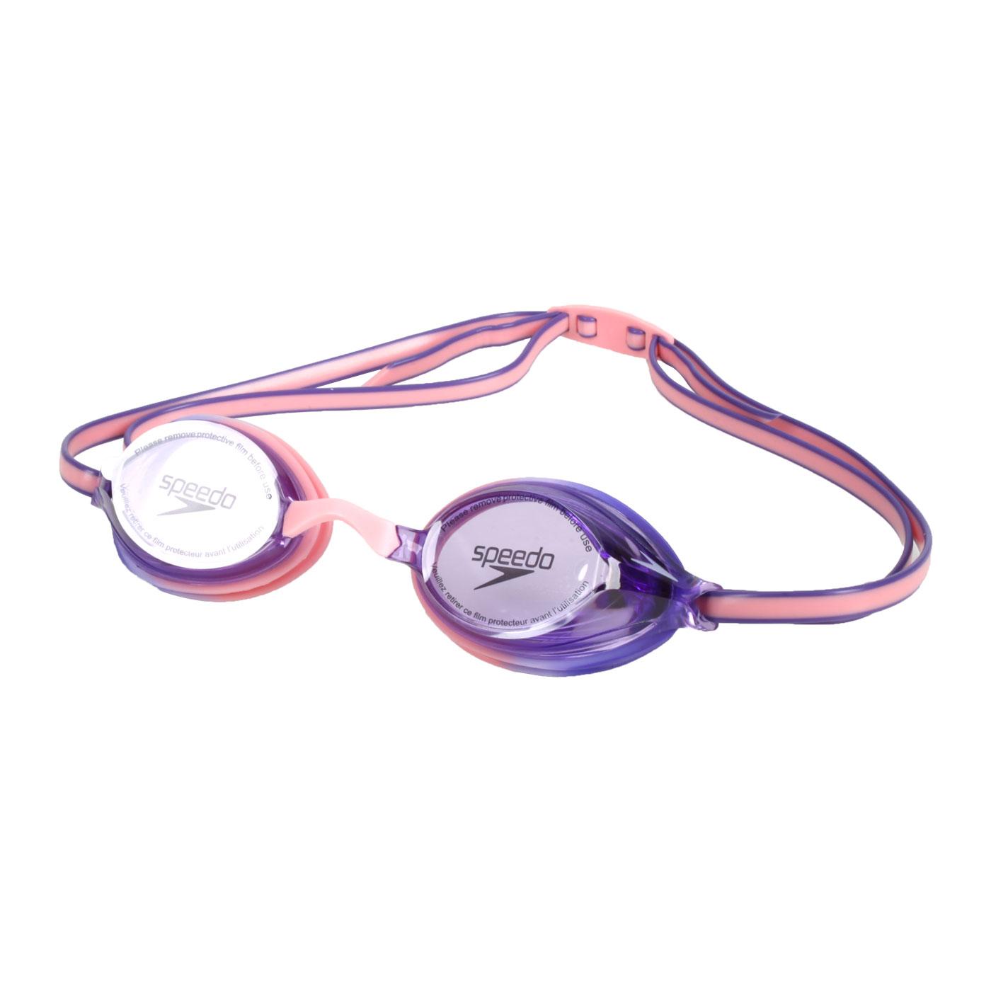 SPEEDO 兒童競技泳鏡 SD811323D654 - 粉紫