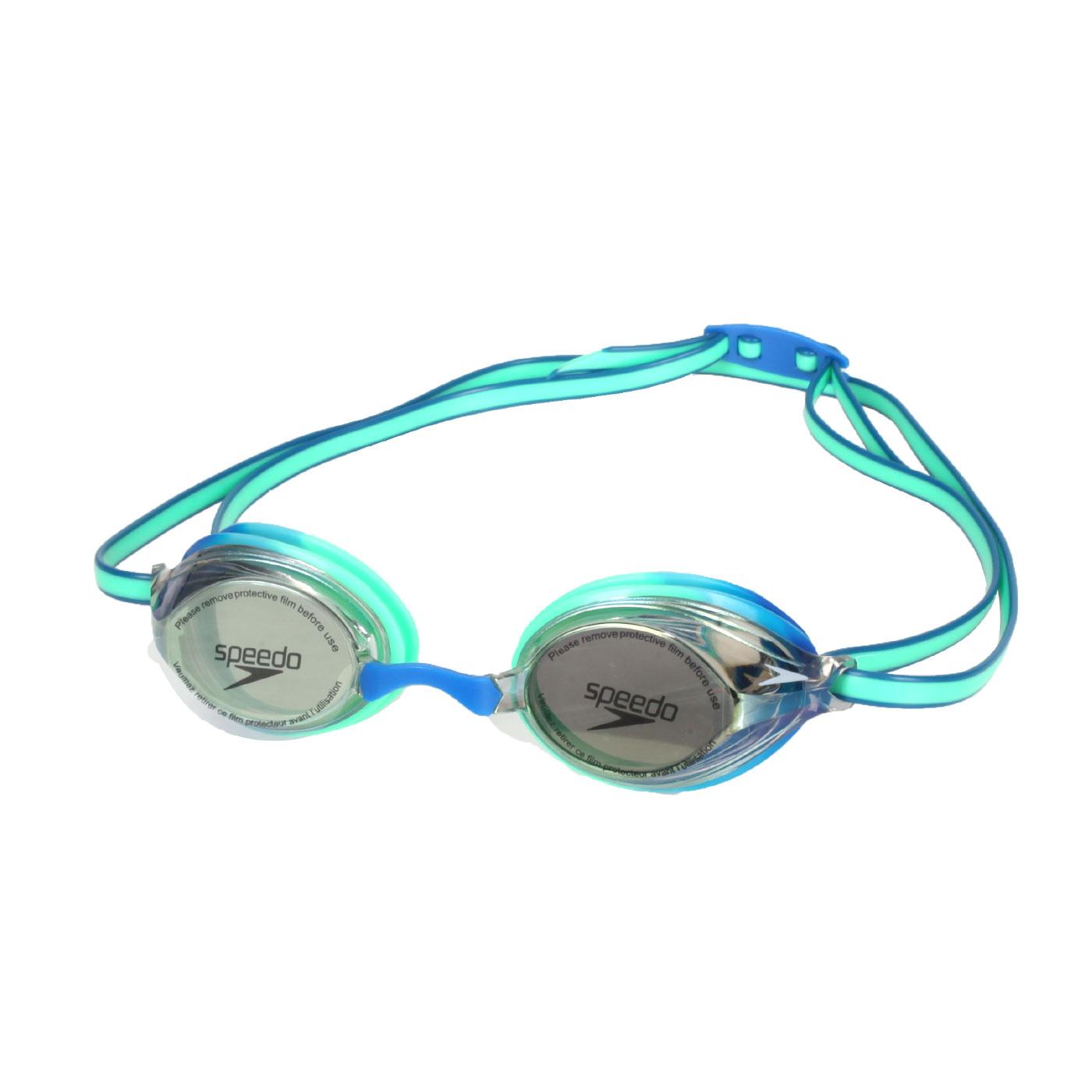 SPEEDO 兒童競技泳鏡 SD811325D651 - 綠藍