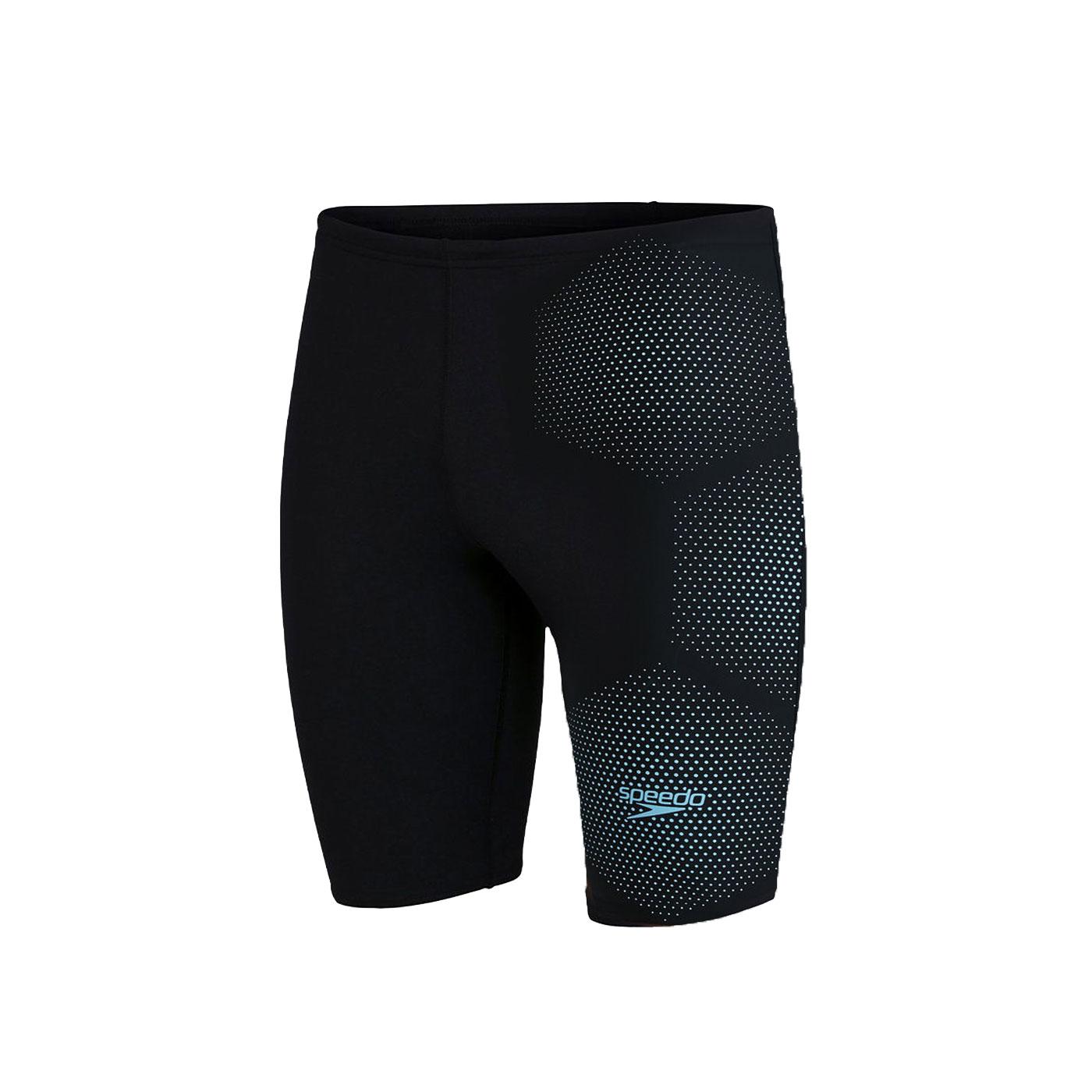 SPEEDO 男運動及膝泳褲 SD811355F888 - 黑水藍