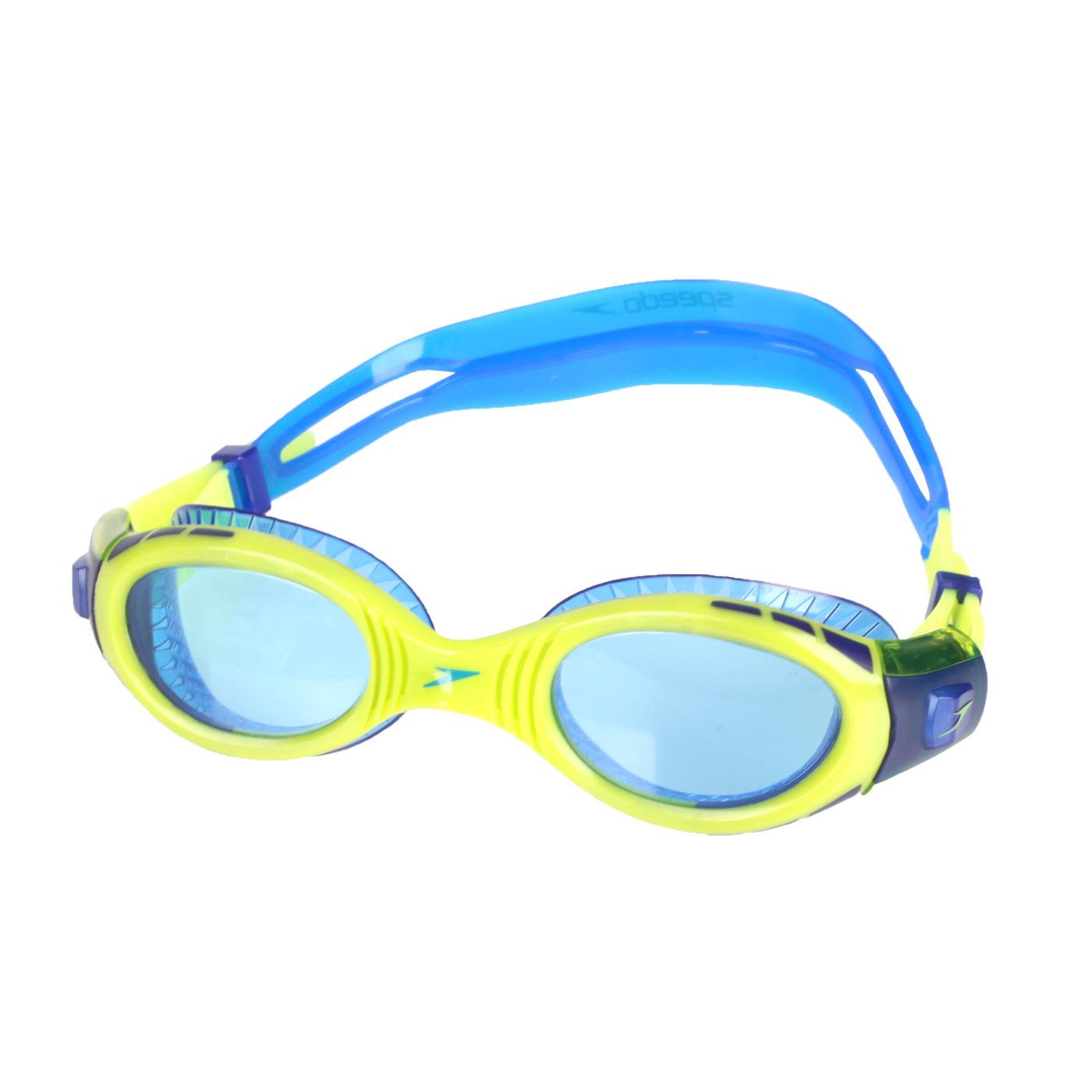 SPEEDO 兒童運動泳鏡 SD811595C585N - 萊姆綠藍