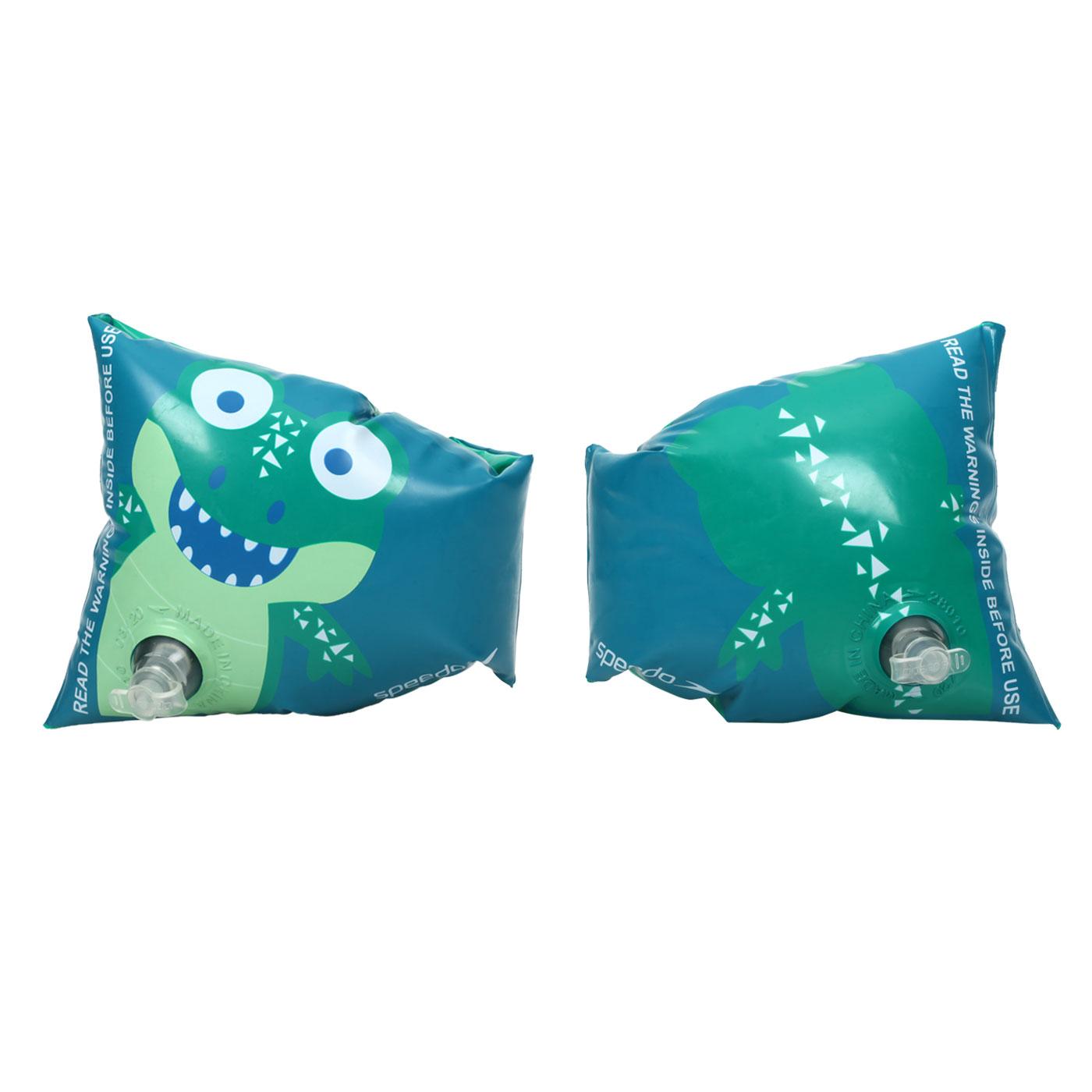SPEEDO 兒童浮臂-小鱷魚 SD811734D680 - 藍綠