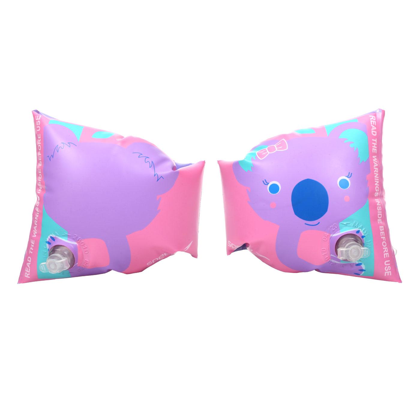 SPEEDO 兒童浮臂-無尾熊 SD811734D705 - 粉紫綠