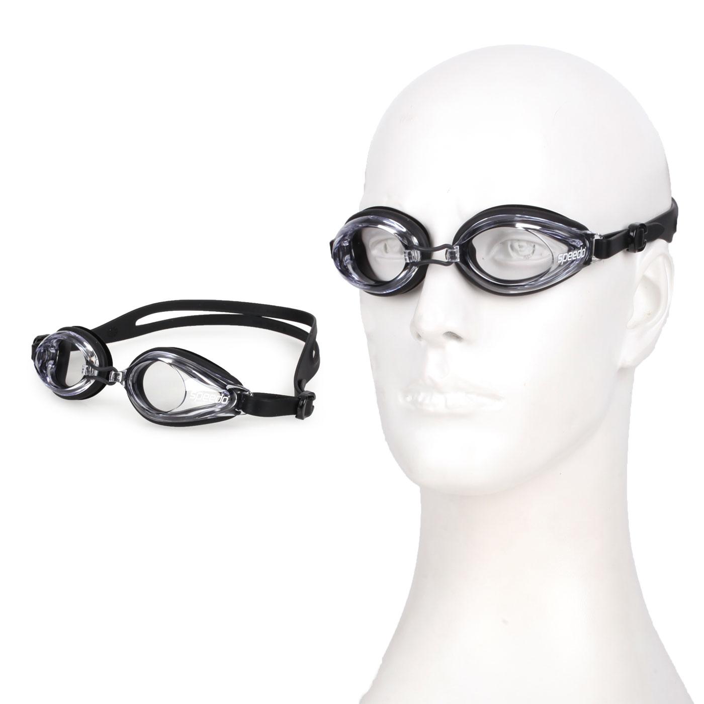 SPEEDO 成人泳鏡 SD8120047649 - 黑透明