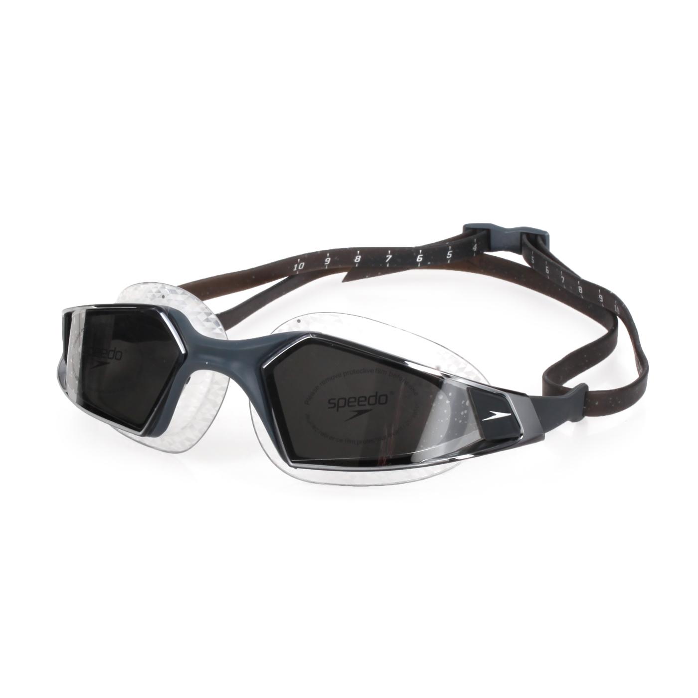 SPEEDO 成人運動泳鏡 鏡面 Aquapulse Pro SD812265D637 - 深灰銀