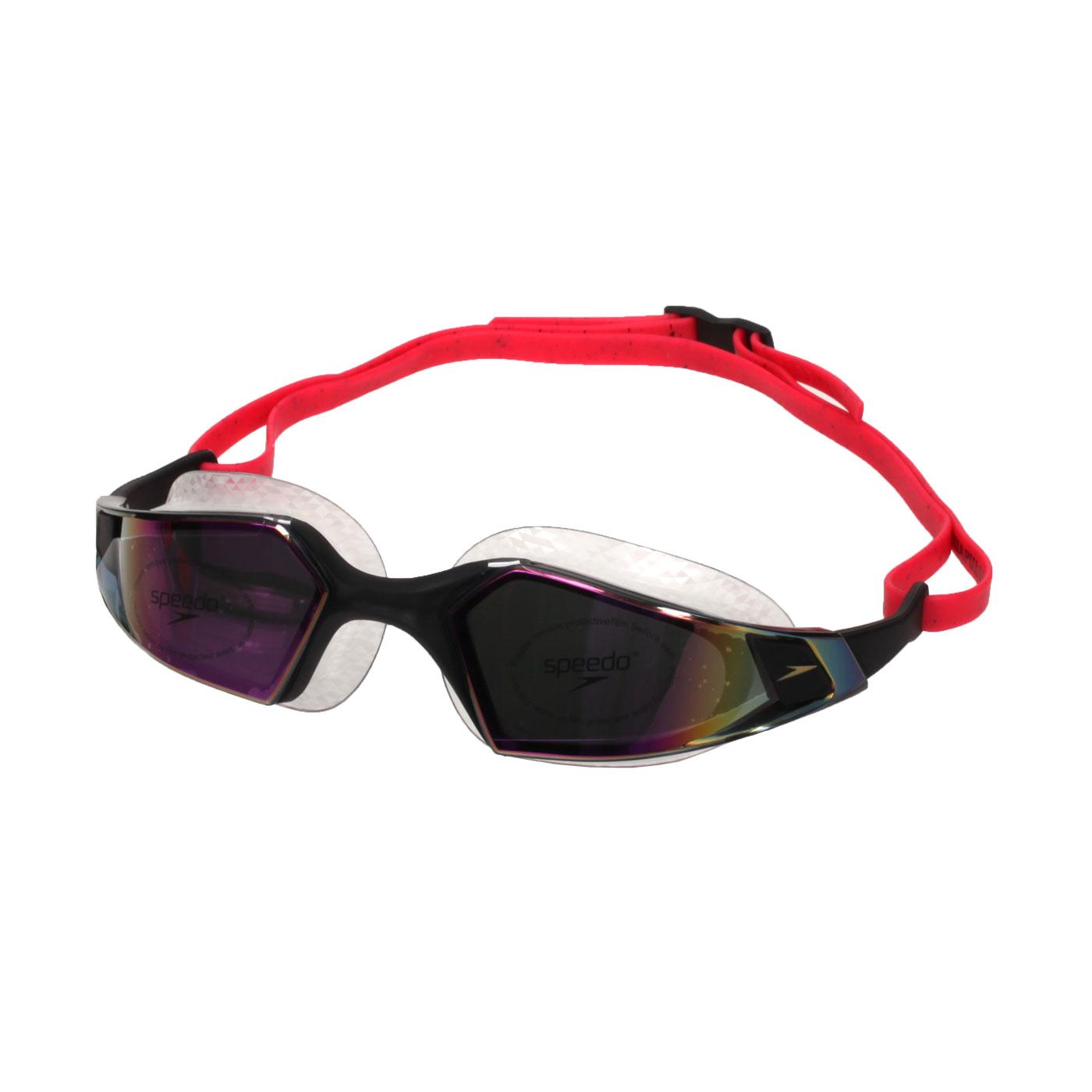 SPEEDO 成人運動泳鏡-鏡面 Aquapulse Pro SD812265D638 - 黑紫
