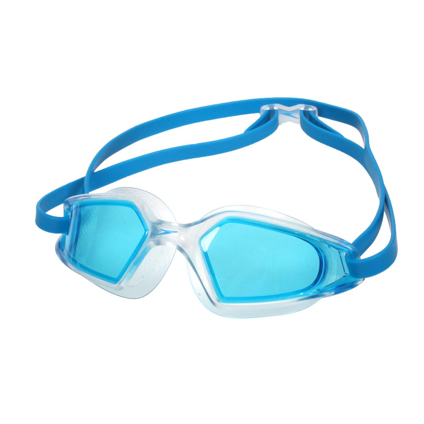SPEEDO 成人運動泳鏡 Hydropulse SD812268D647 - 透明水藍