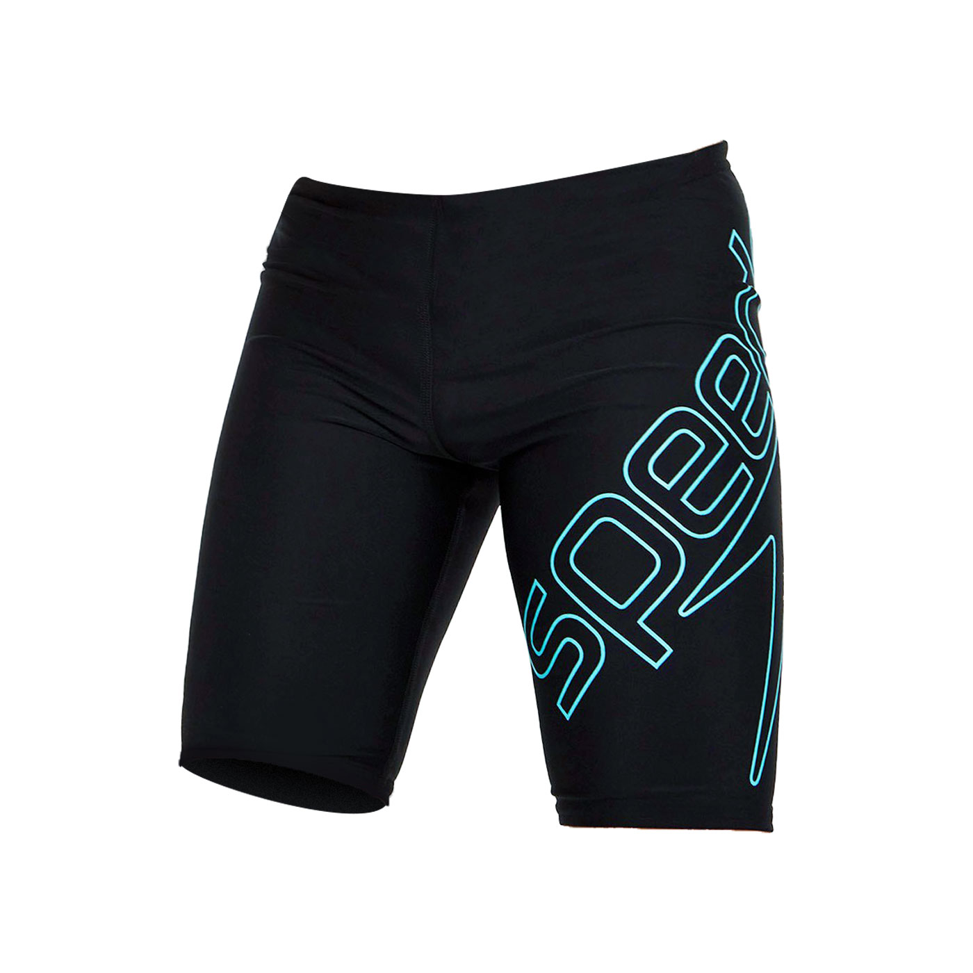SPEEDO 男孩運動及膝泳褲 SD812407F888 - 黑水藍
