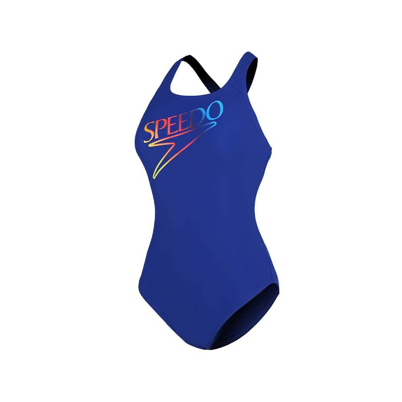 SPEEDO 女款運動連身泳裝 SD812523G064 - 藍綠紅