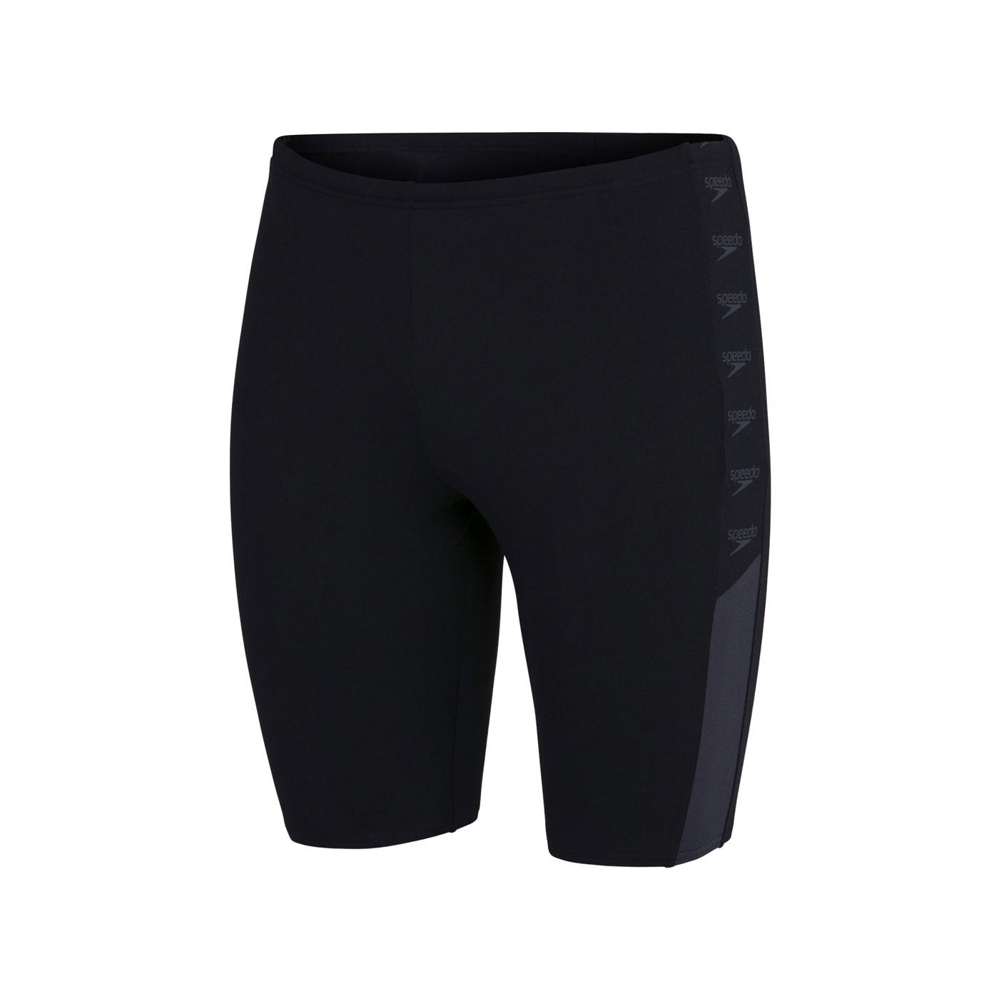 SPEEDO 男款運動及膝泳褲 SD8128229023 - 黑灰