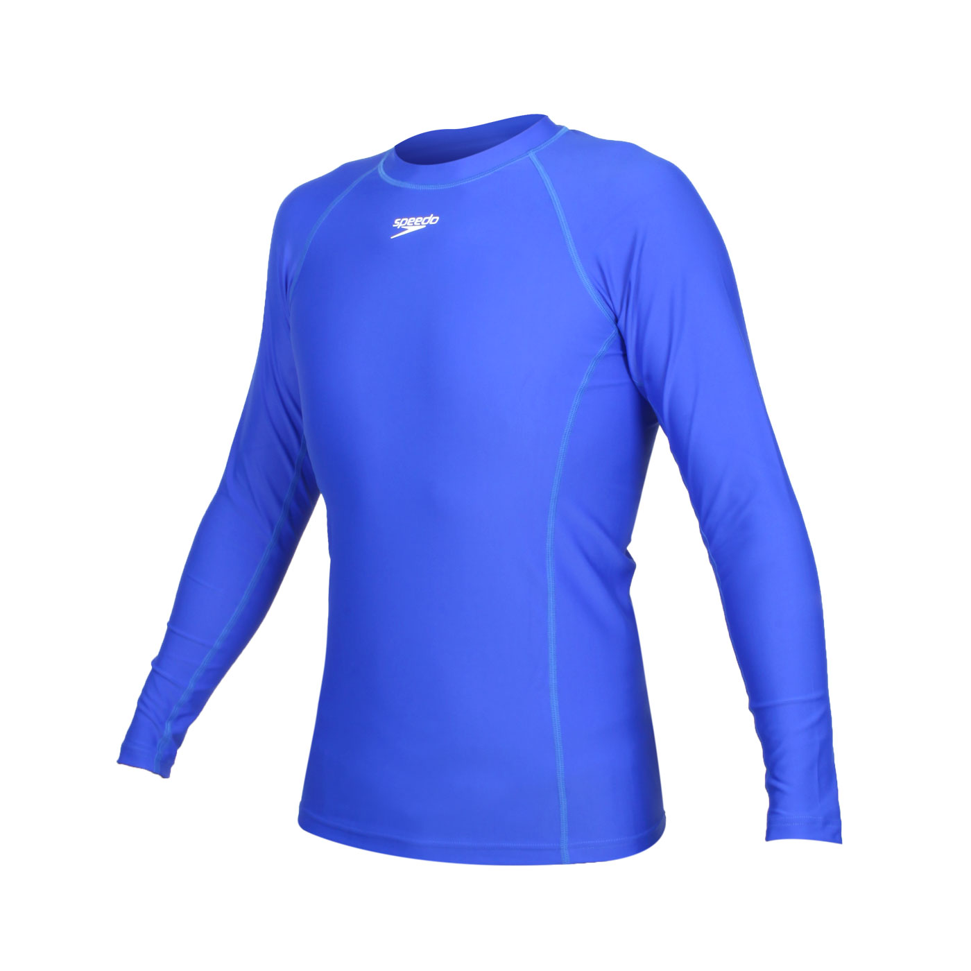 SPEEDO 男款長袖防曬衣 SD8132095135 - 藍白