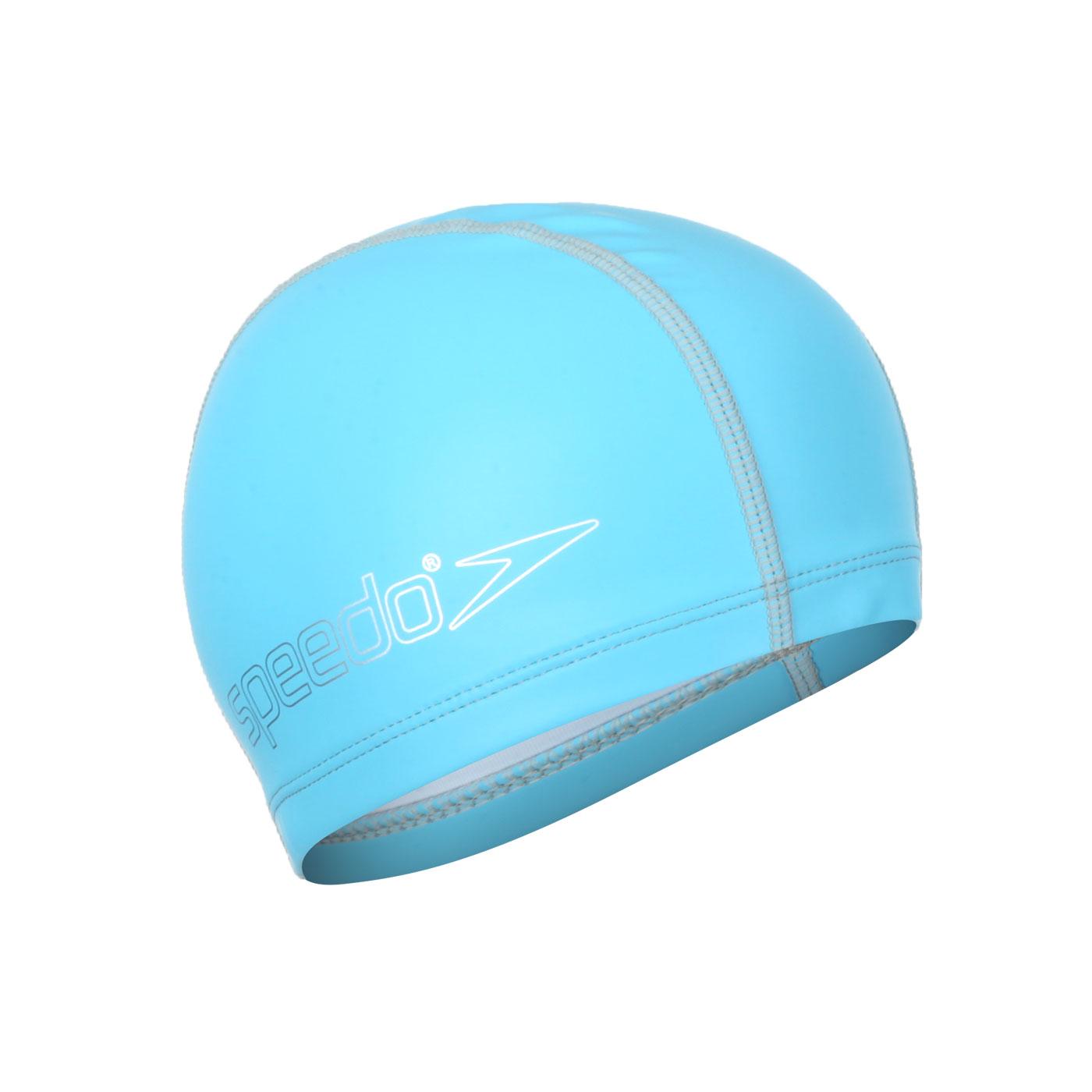 SPEEDO 兒童合成泳帽 SD8720734604 - 水藍銀