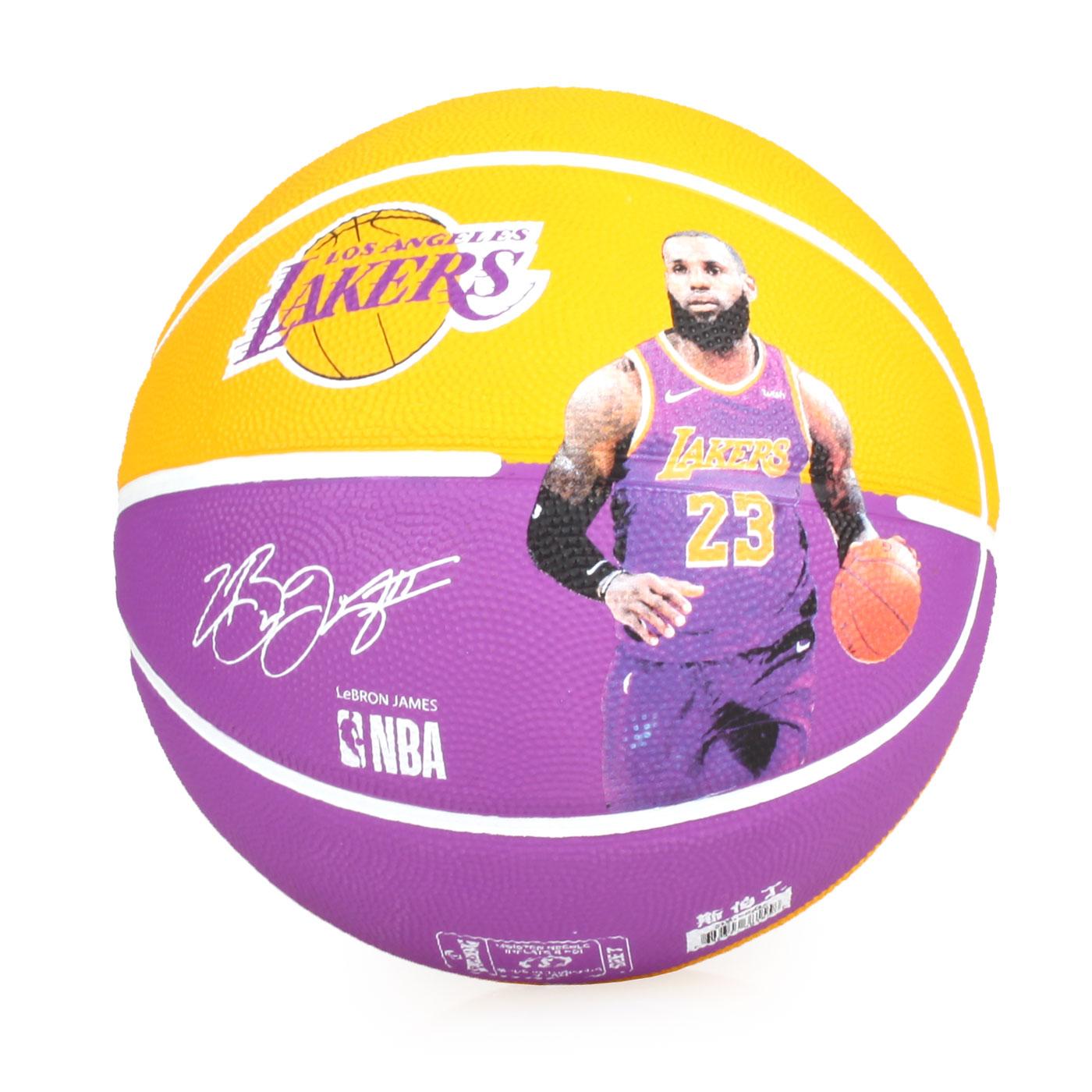 SPALDING 湖人-詹姆士 LeBron 籃球 #SPA83848 SPA38155 - 黃紫