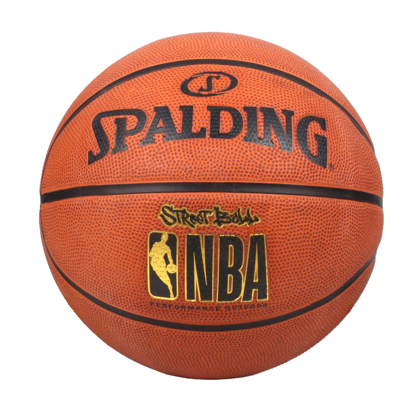 SPALDING Street Rubber 籃球 #7 SPA73799 - 暗橘黑金