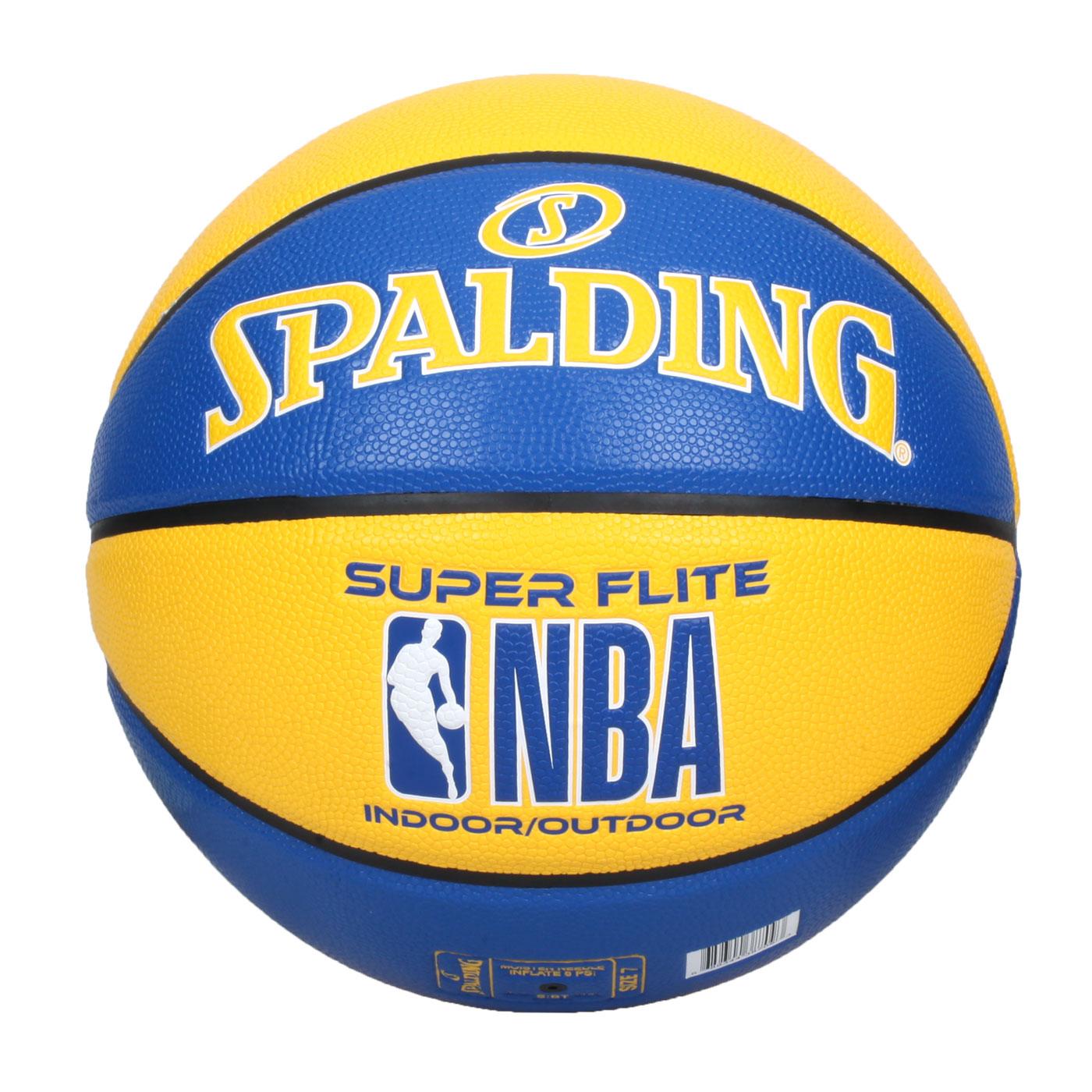 SPALDING NBA SUPER FLITE系列#7號合成皮籃球 SPA38709 SPA76350 - 藍黃