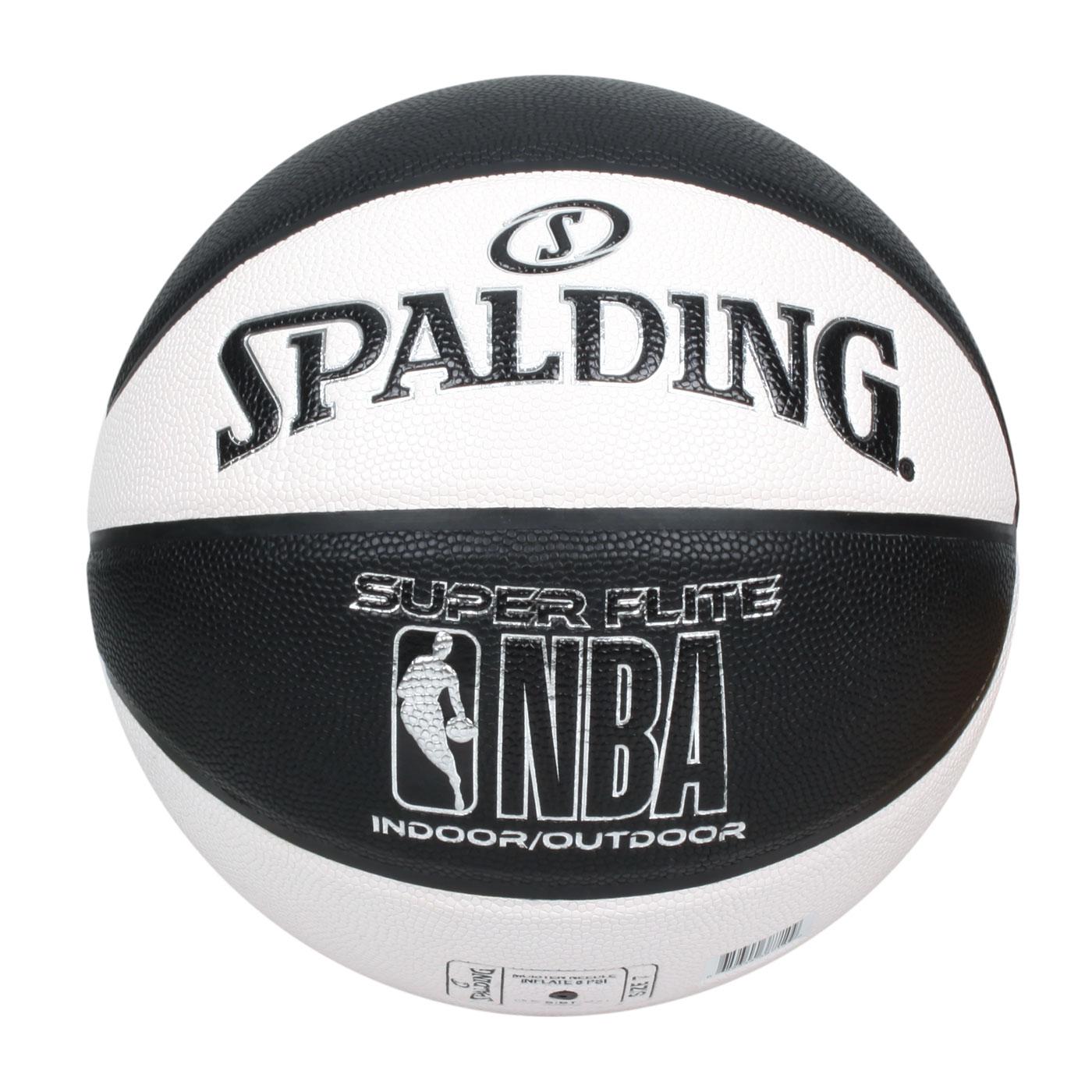 SPALDING NBA SUPER FLITE系列#7號合成皮籃球 SPA38710 SPA76351 - 白黑