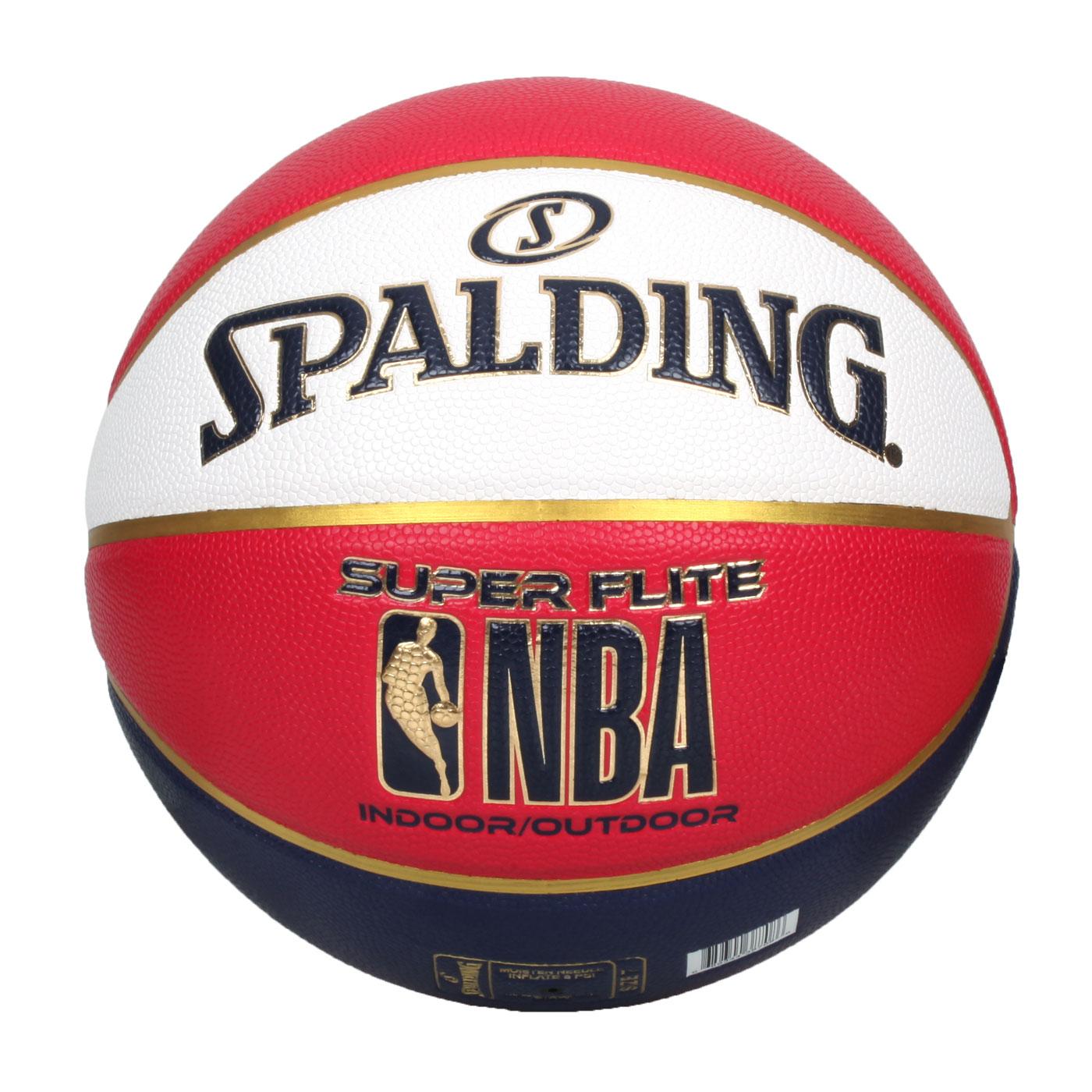 SPALDING NBA SUPER FLITE系列#7號合成皮籃球 SPA38708 SPA76352 - 丈青紅白