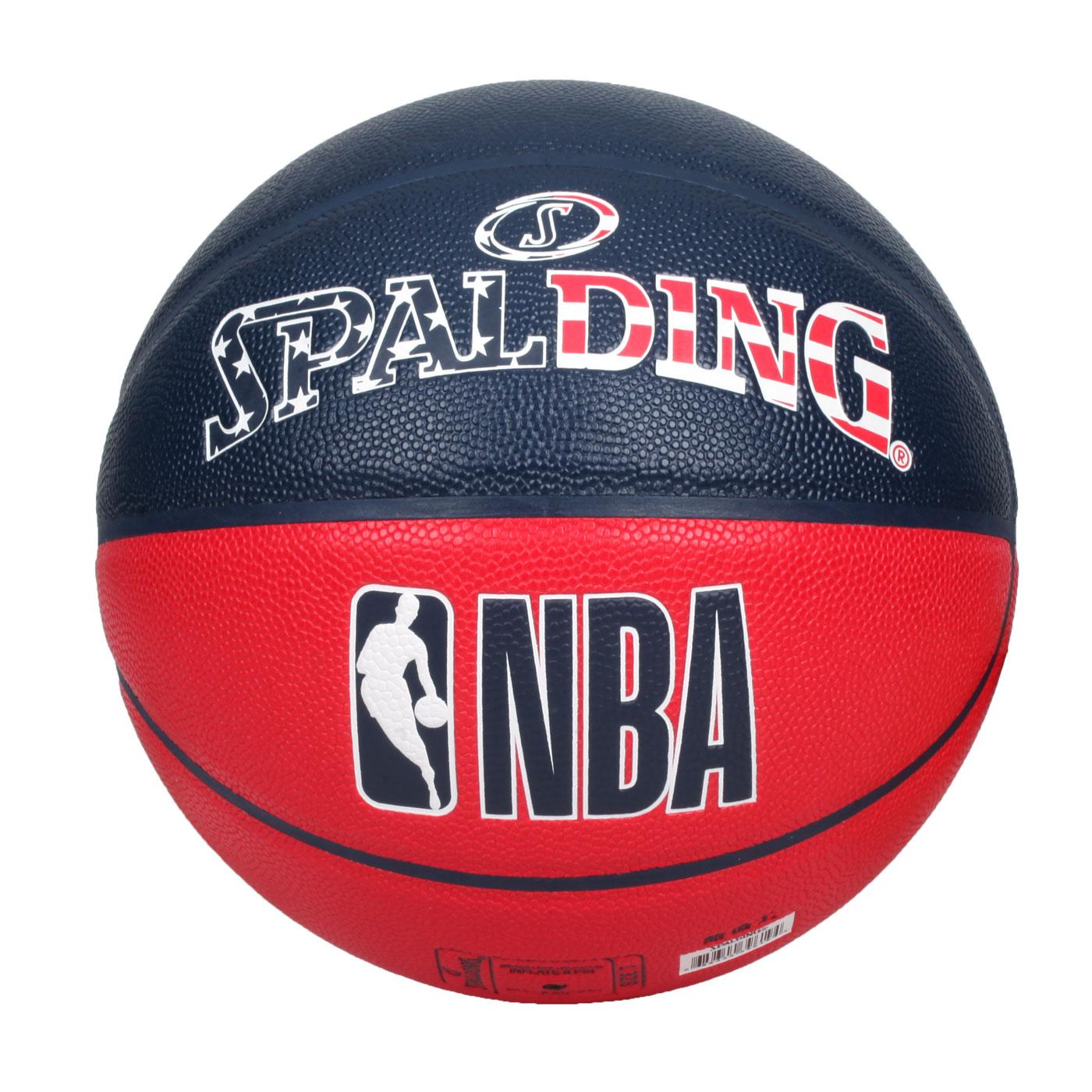 SPALDING NBA #7號合成皮籃球 SPA39619  SPA76487 - 丈青紅白