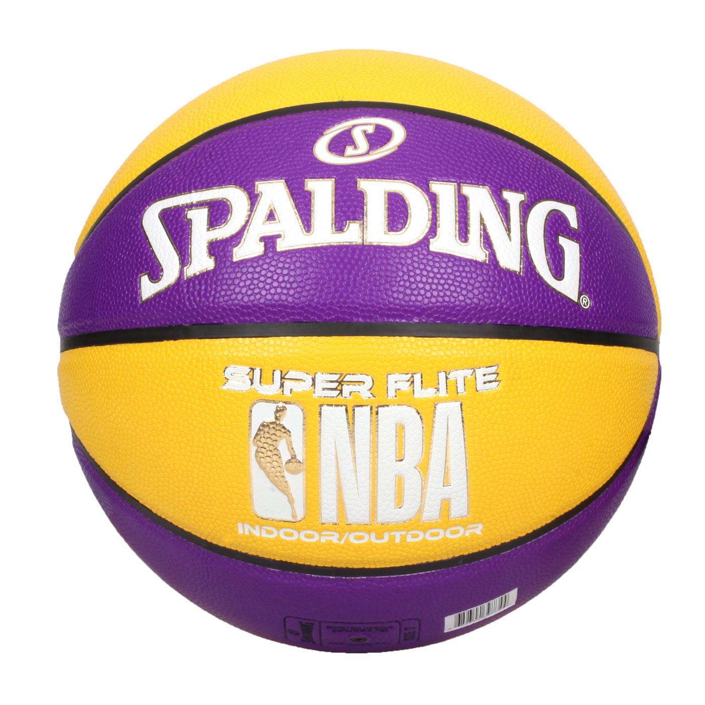SPALDING NBA SUPER FLITE系列#7號合成皮籃球 SPA39734 SPA76658 - 紫黃白