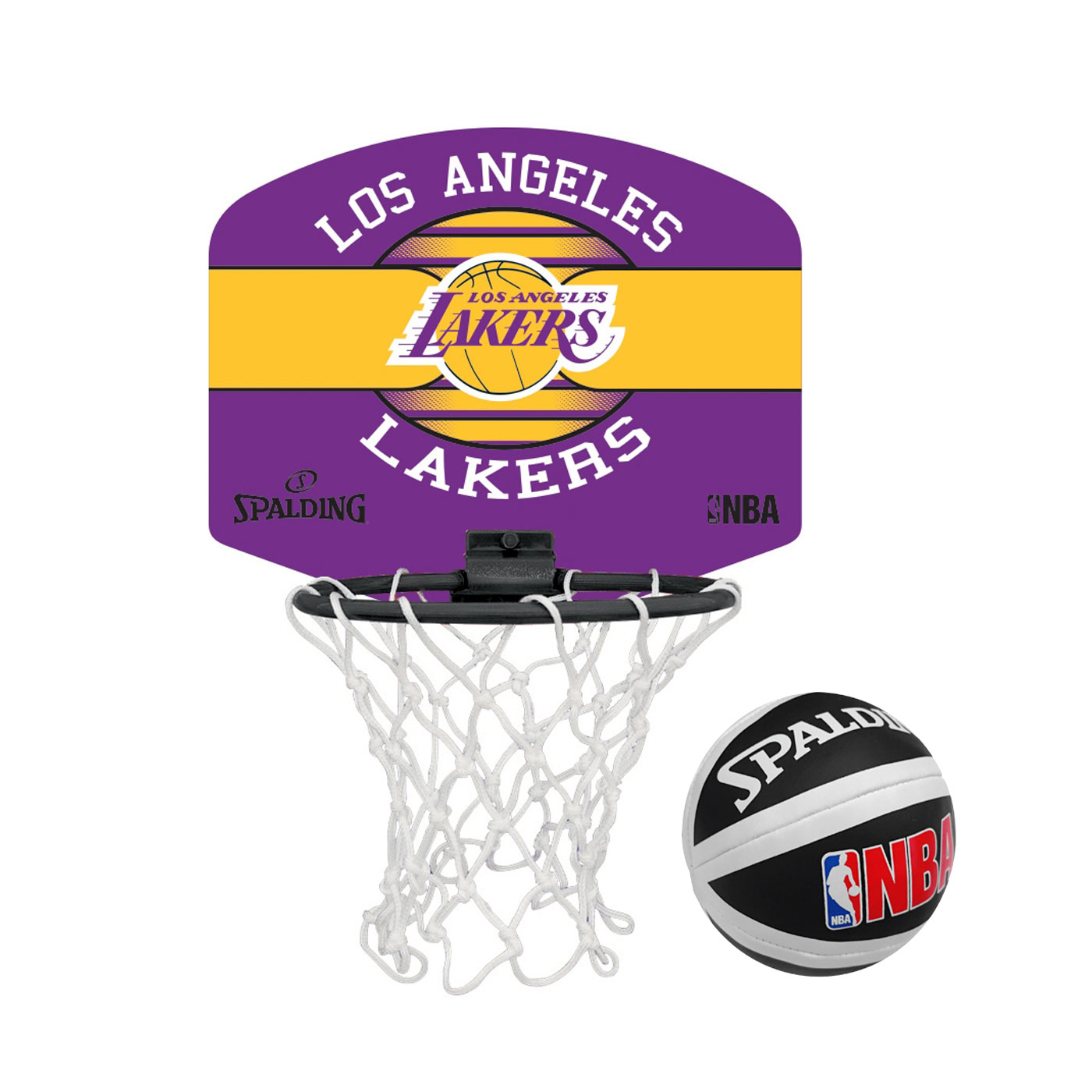 SPALDING 18'小籃板-湖人 SPA77656 - 紫黃