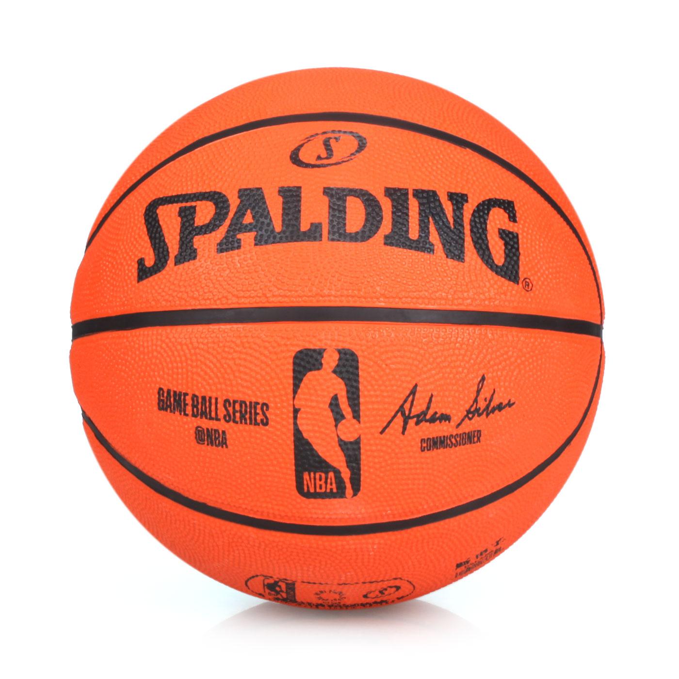 SPALDING NBA 7號籃球-橡膠 SPA83385 - 橘黑