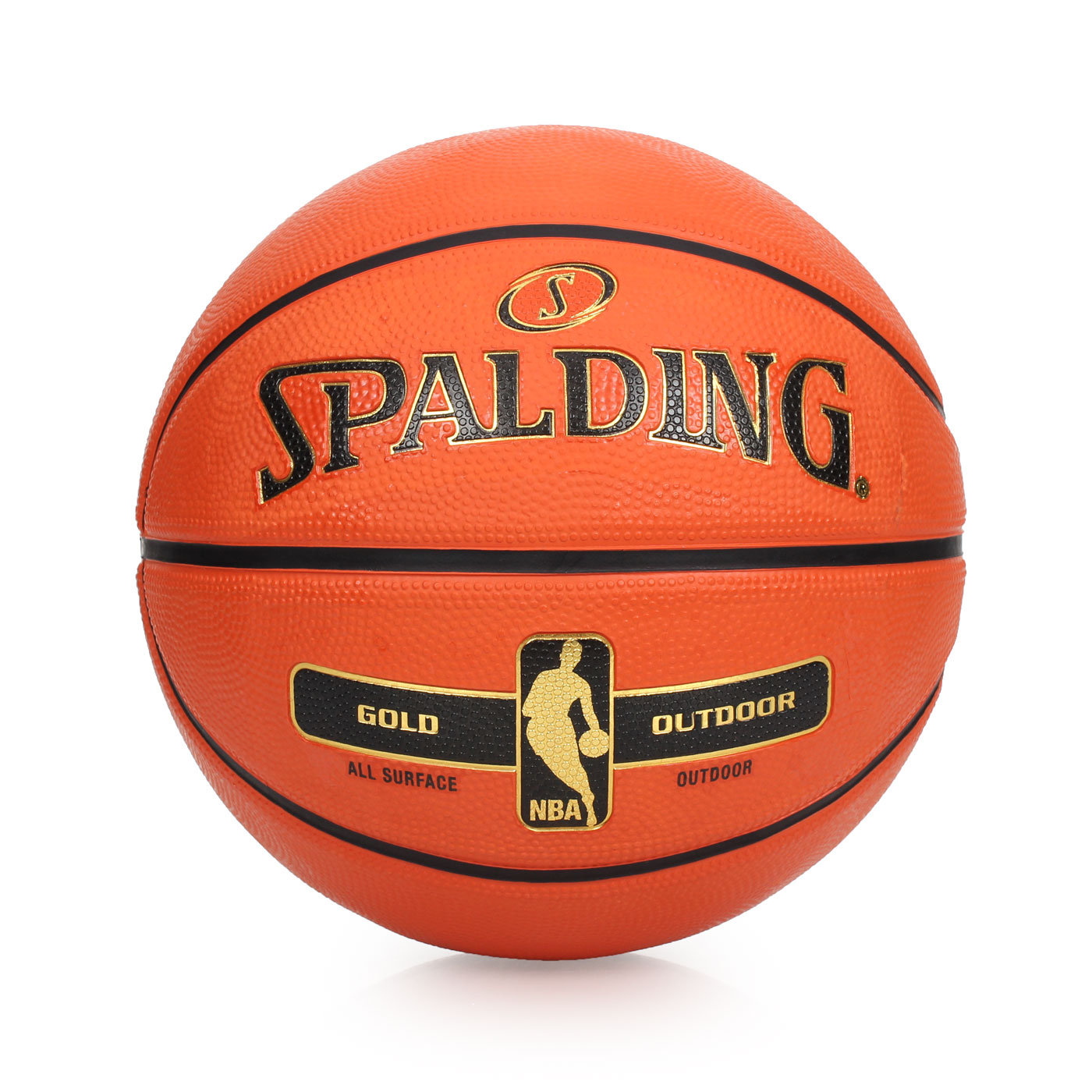 SPALDING 金色NBA-Rubber 籃球 SPA83492 - 橘金