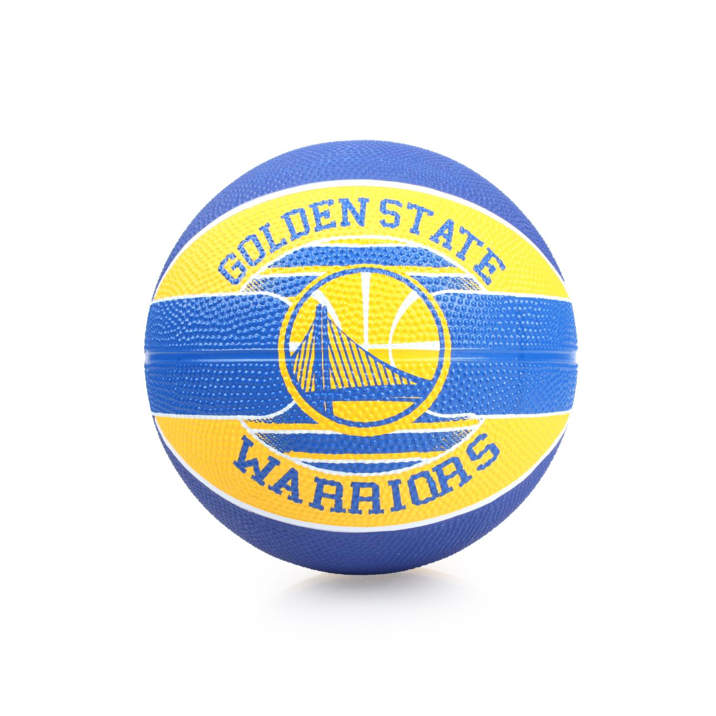 SPALDING 兒童-勇士 Warriors SZ3 籃球 SPA83617 - 藍黃