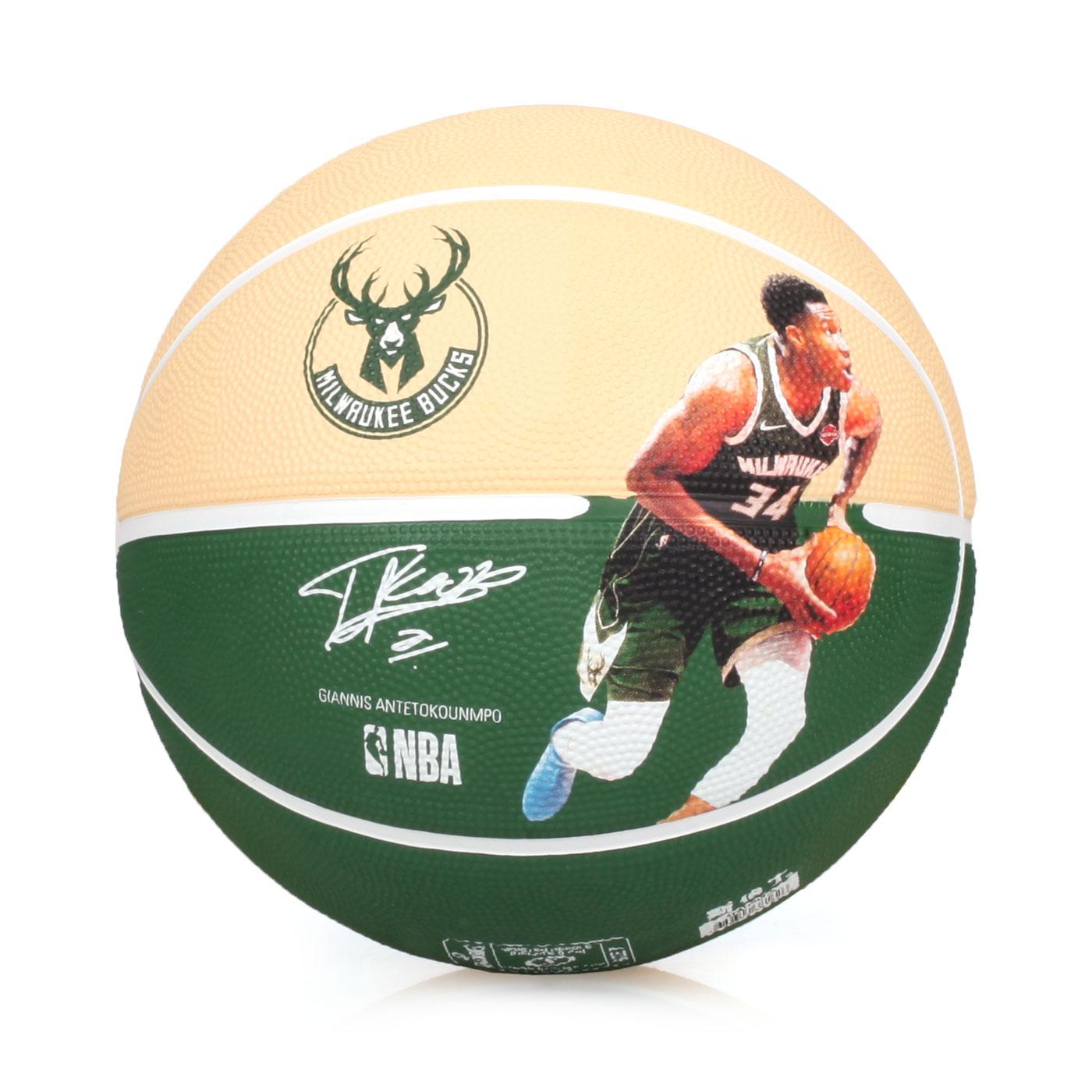 SPALDING 公鹿 Antetokounmpo 籃球 #SPA38162 SPA83836 - 綠黃