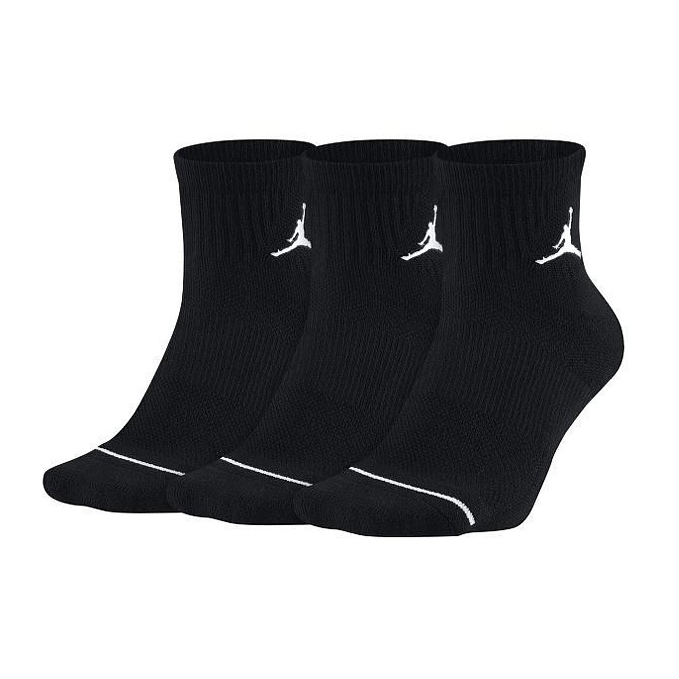 NIKE JUMPMAN籃球襪3PPK SX5544-010 - 黑