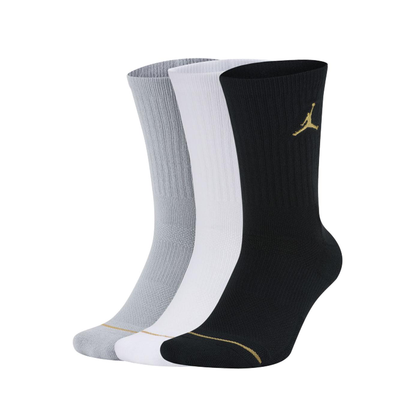 NIKE 長襪(三入裝) SX5545-915 - 黑白灰金