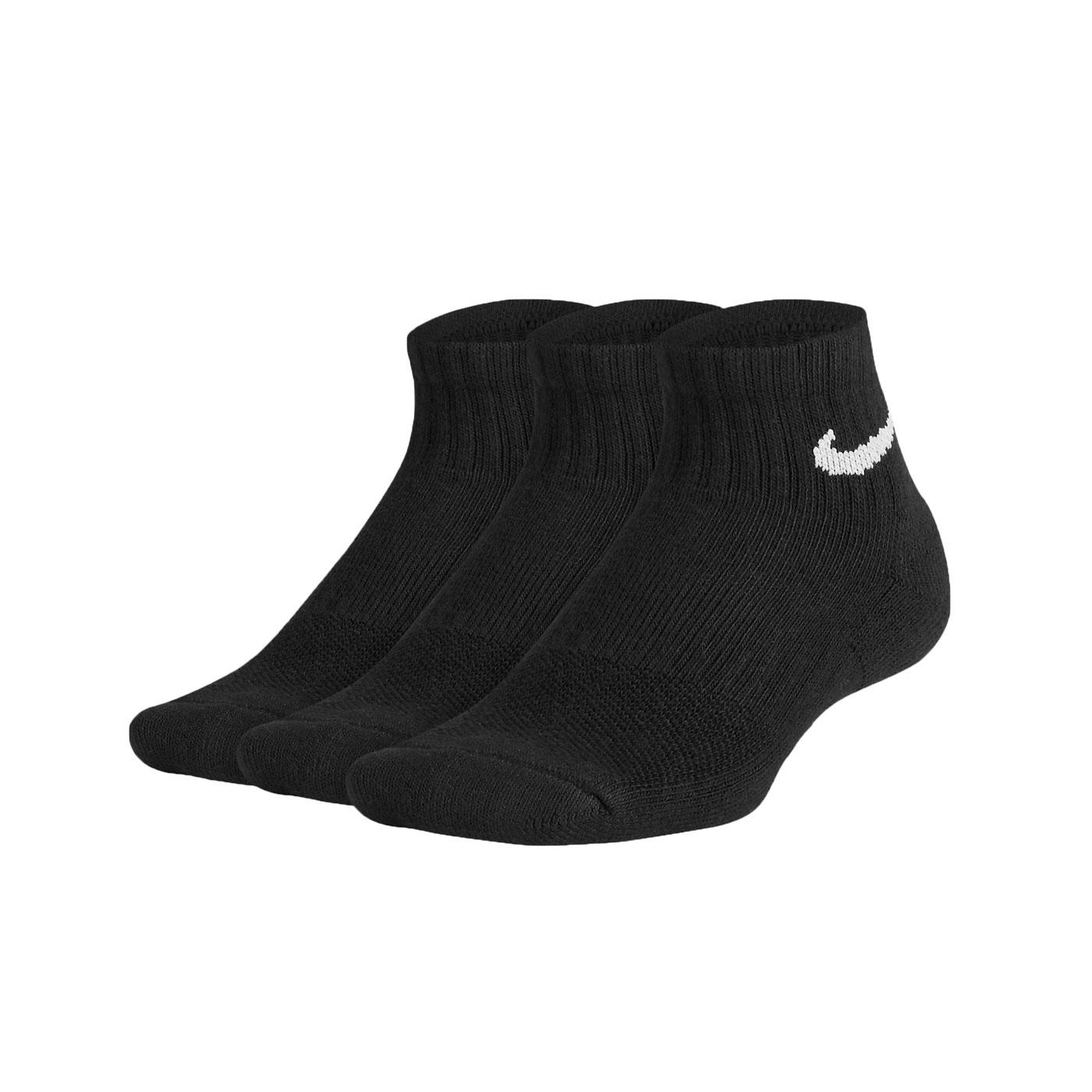 NIKE 運動短襪(三雙入) SX6844-010 - 黑白