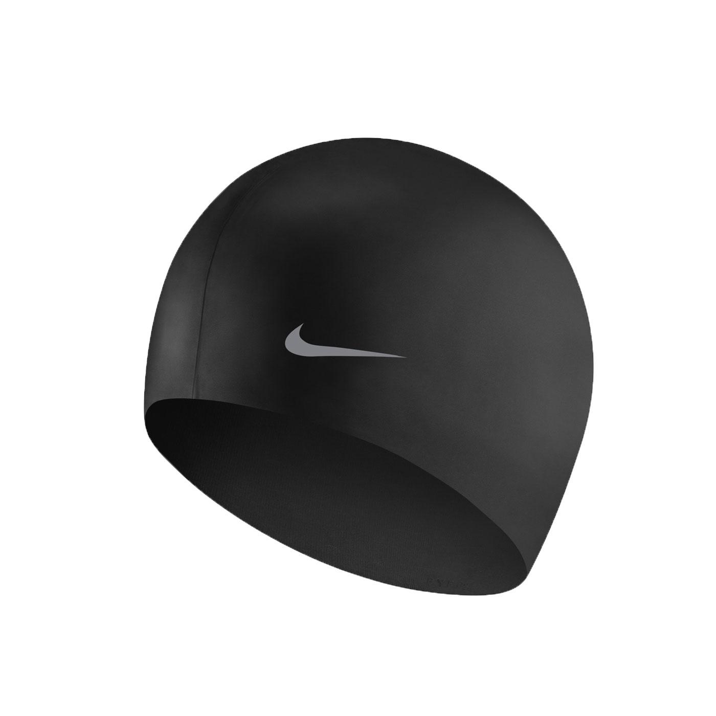 NIKE SWIM 青年矽膠泳帽 TESS0106-001 - 黑銀