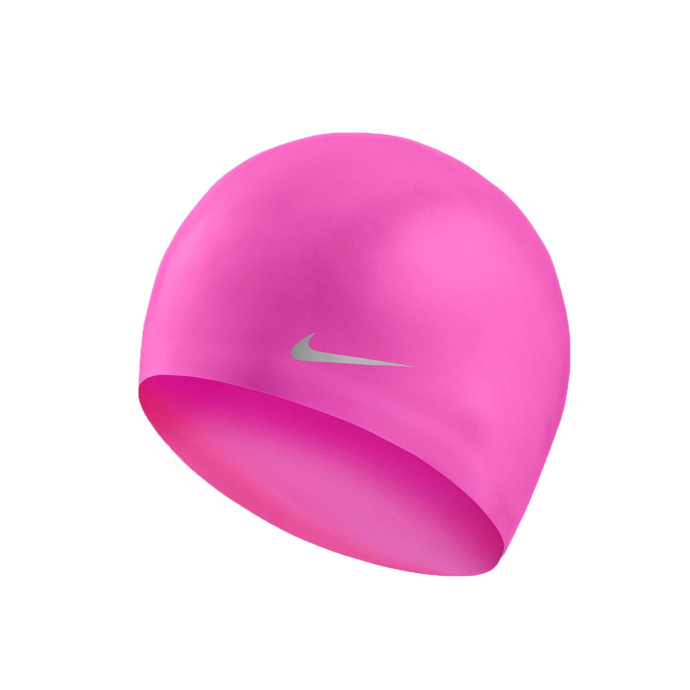 NIKE SWIM 青年矽膠泳帽 TESS0106-001 - 亮粉灰