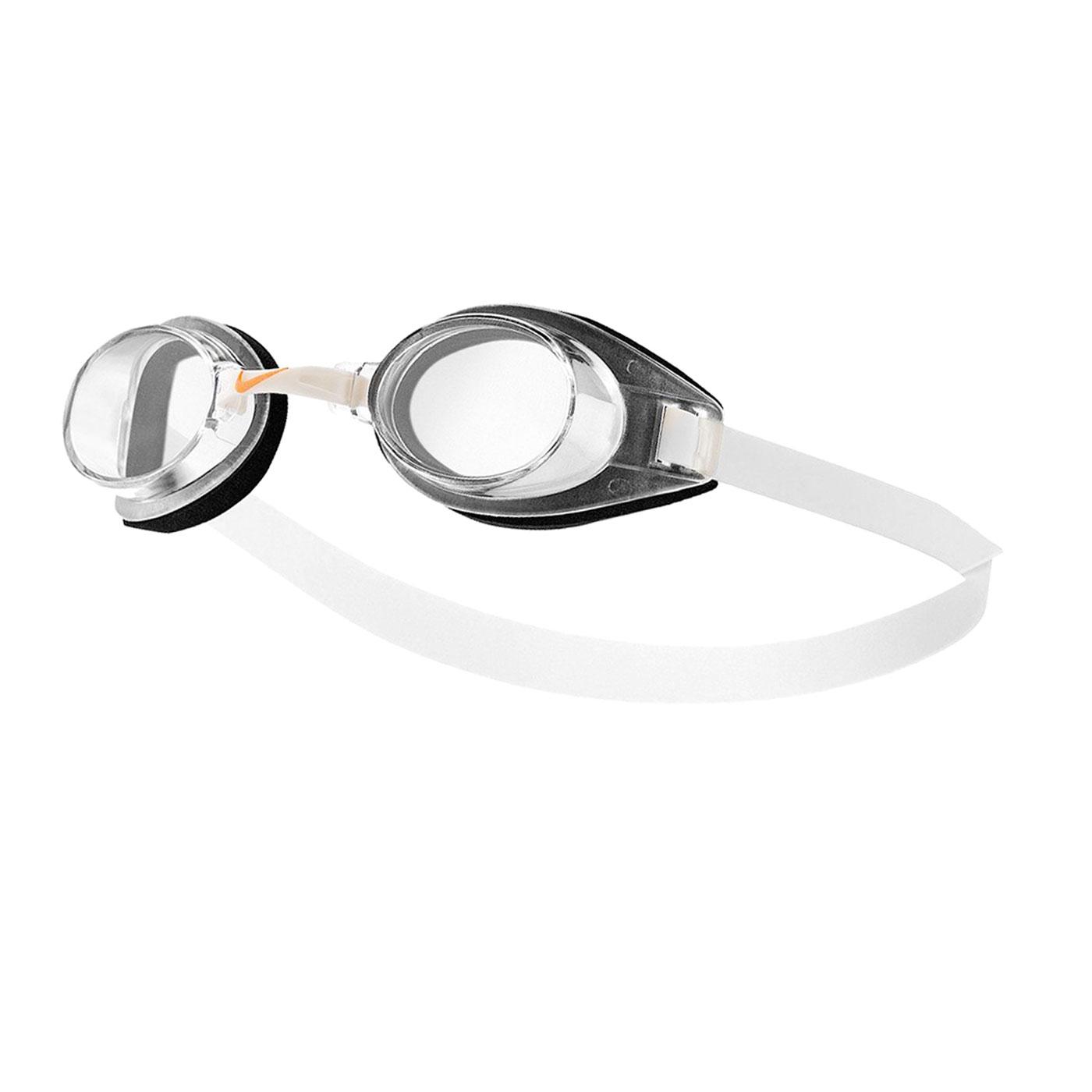 NIKE SWIM 休閒型成人泳鏡 TFSS0555-000 - 黑白橘