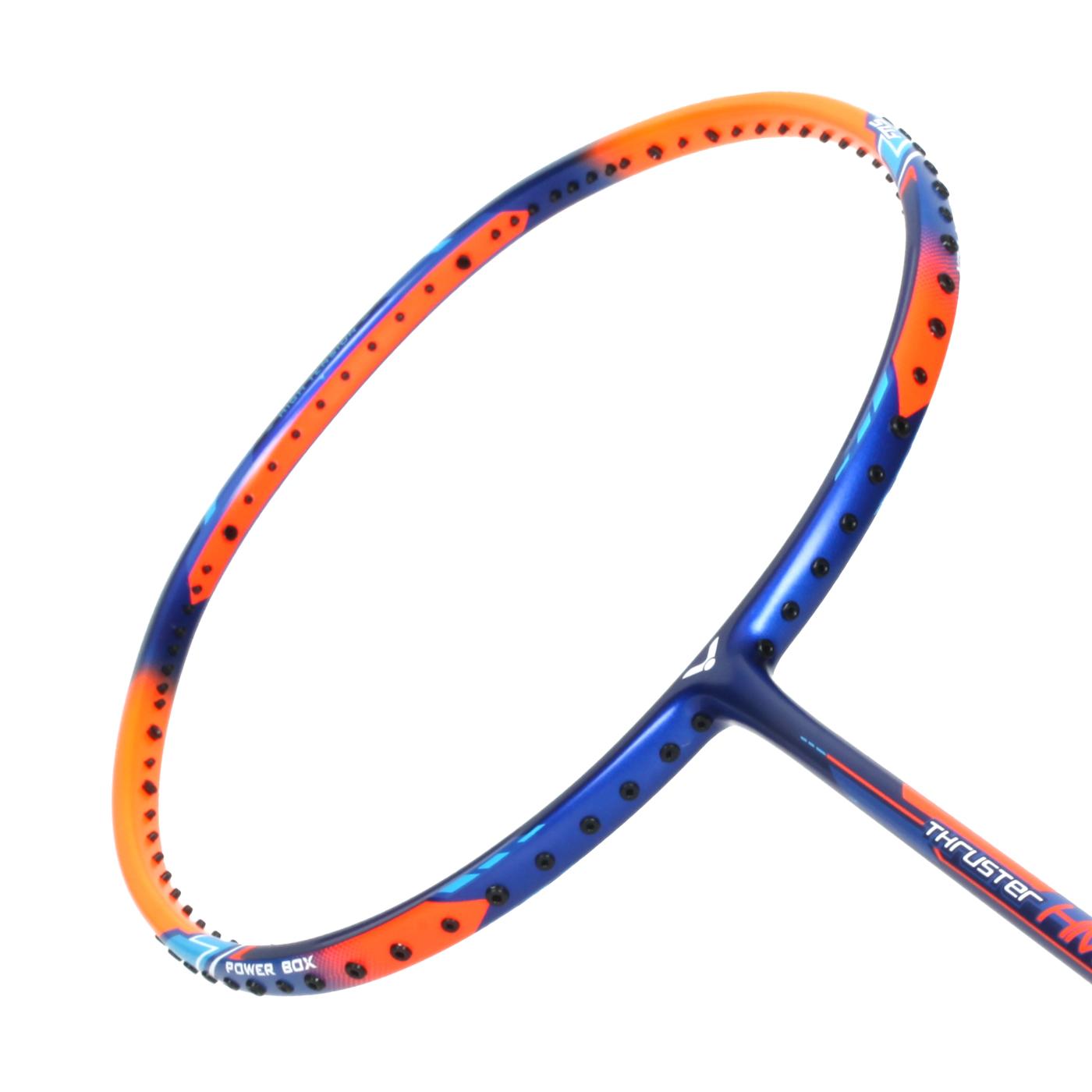VICTOR 突擊球拍-5U TK-HMR-5U - 藍螢光橘