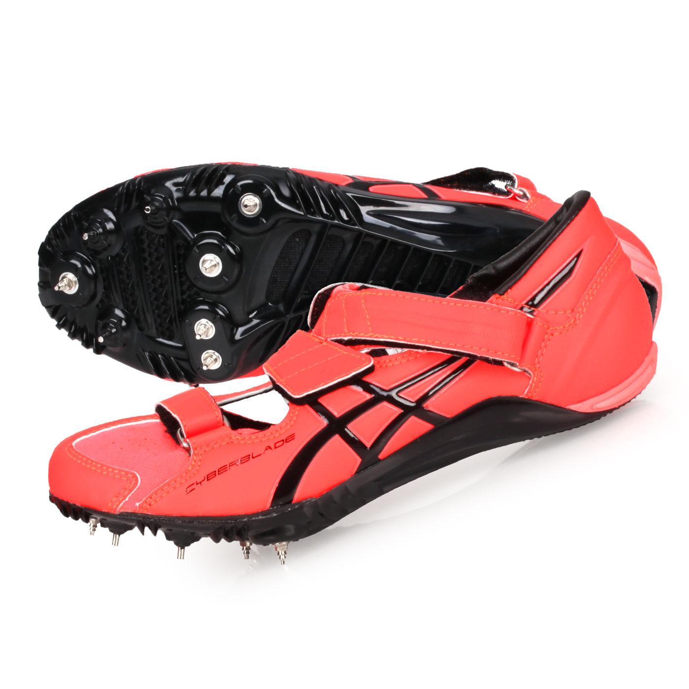 ASICS 日製田徑釘鞋(短距離)  @CYBERBLADE HF@TTP507-701 - 螢光橘黑