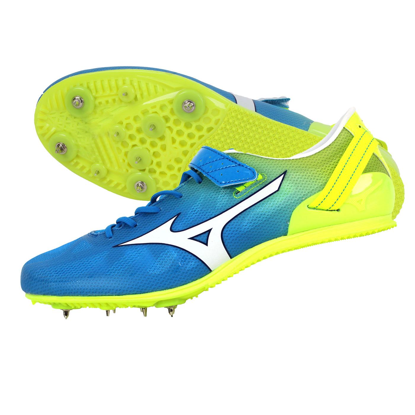 MIZUNO 田徑釘鞋  @GEO STREAK@U1GA161325 - 水藍螢光黃