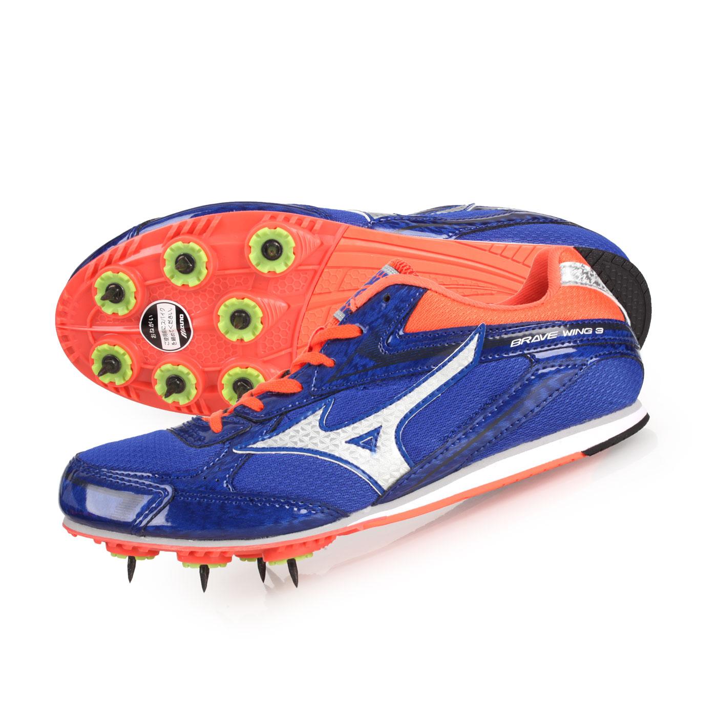 MIZUNO 田徑釘鞋(中長距離)  @BRAVE WING 3@U1GA183005 - 藍灰橘