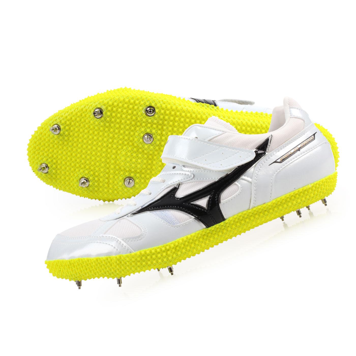MIZUNO 日製田徑釘鞋(跳高左跳)  @FIELD GEO HJ-I2@U1GA184209 - 白黑