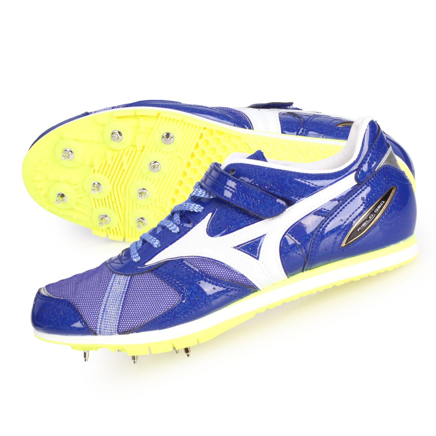MIZUNO 特定-日製田徑釘鞋(三級跳)  @FIELD GEO AJ-B@U1GA194101 - 藍白銀