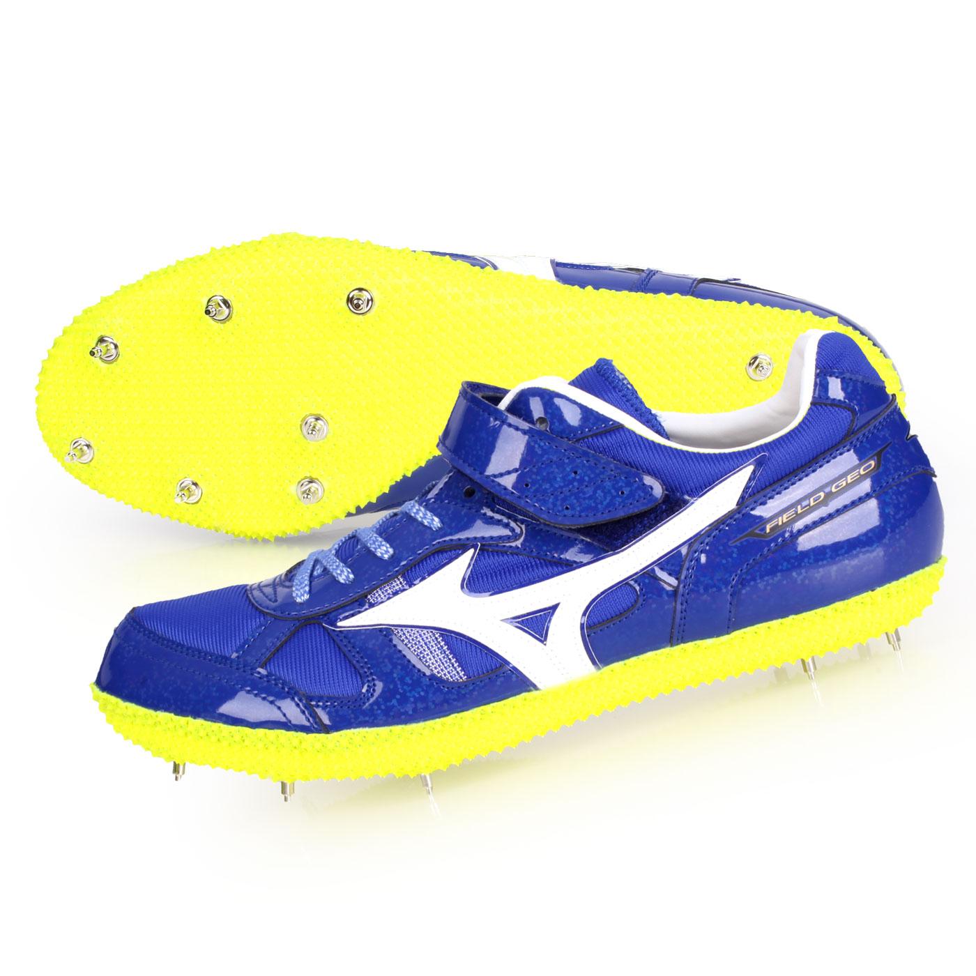 MIZUNO 特定-日製田徑釘鞋(跳高右跳)  @FIELD GEO HJ-BR@U1GA194301 - 藍白