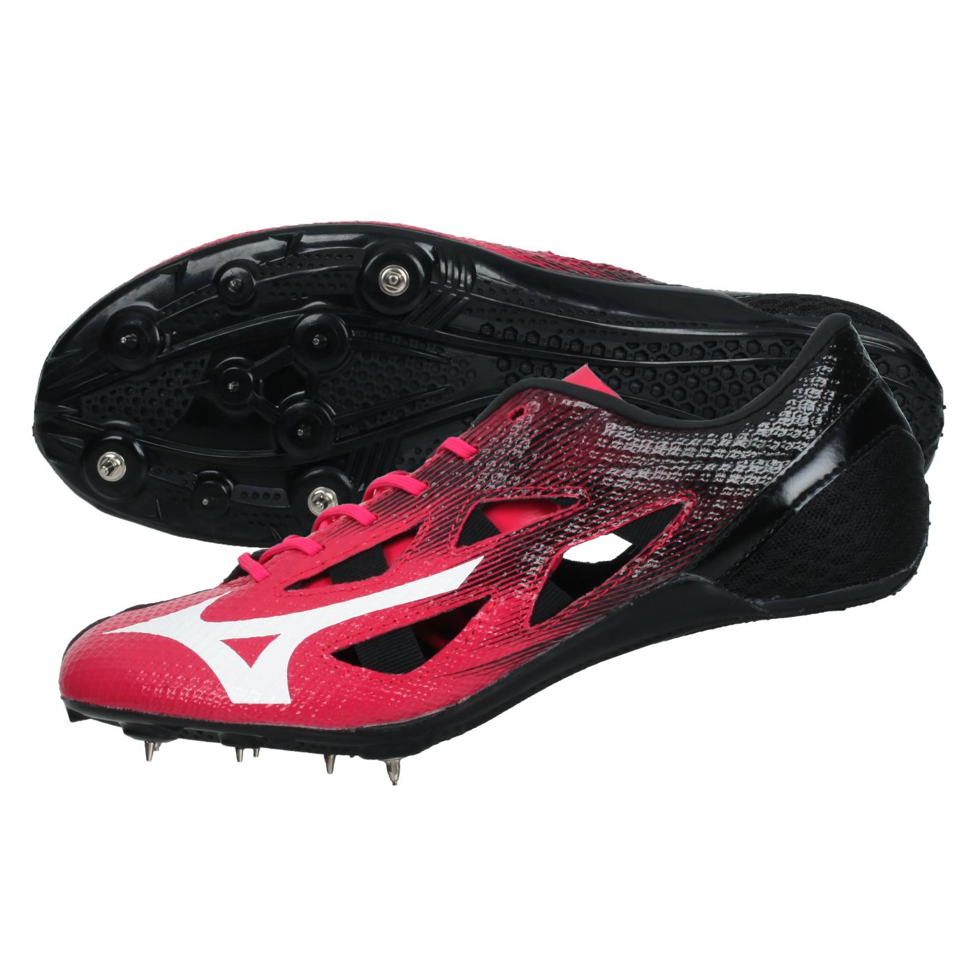 MIZUNO 田徑釘鞋(短距離)  @GEO SILENCER FX@U1GA201260 - 桃紅白黑
