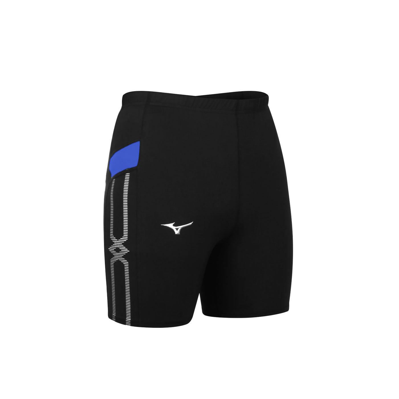 MIZUNO 男款緊身短褲 U2TB1G0309 - 黑藍白