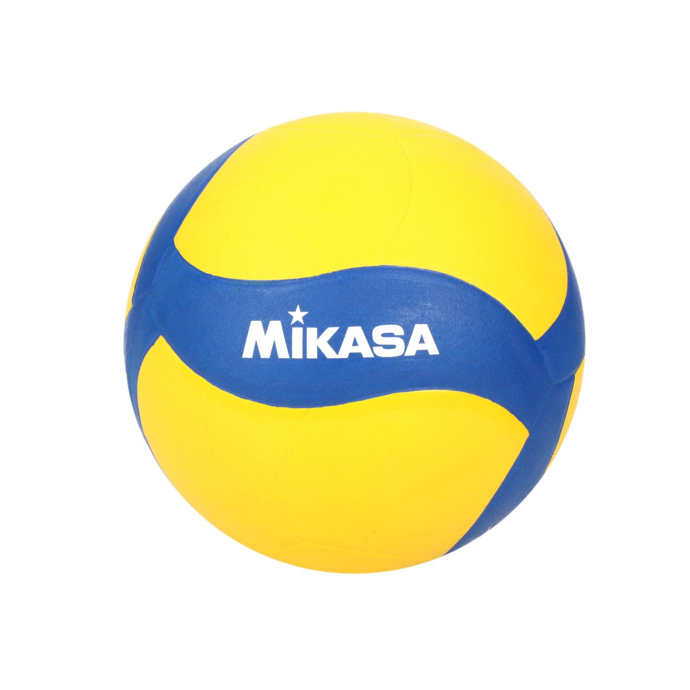 MIKASA 螺旋型軟橡膠排球#4 V024WS - 黃藍白