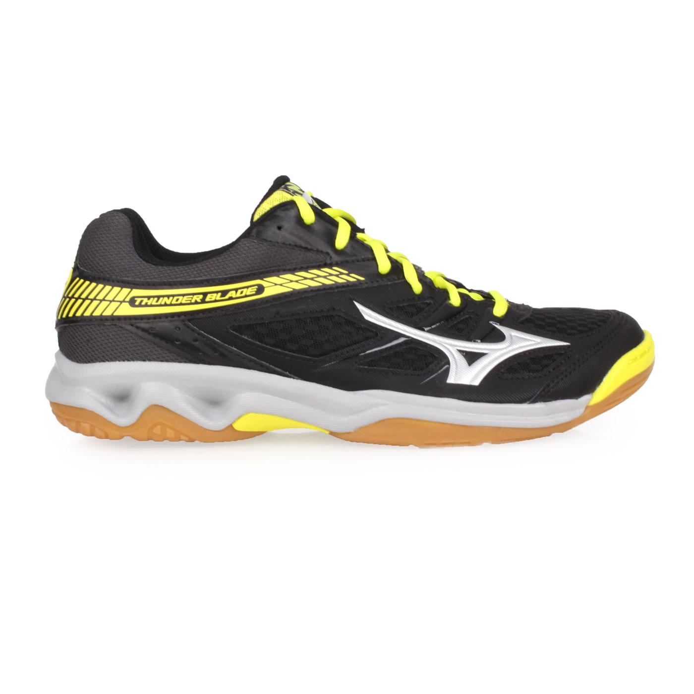 MIZUNO 排球鞋  @THUDNER BLADE@V1GA177005 - 黑黑銀黃