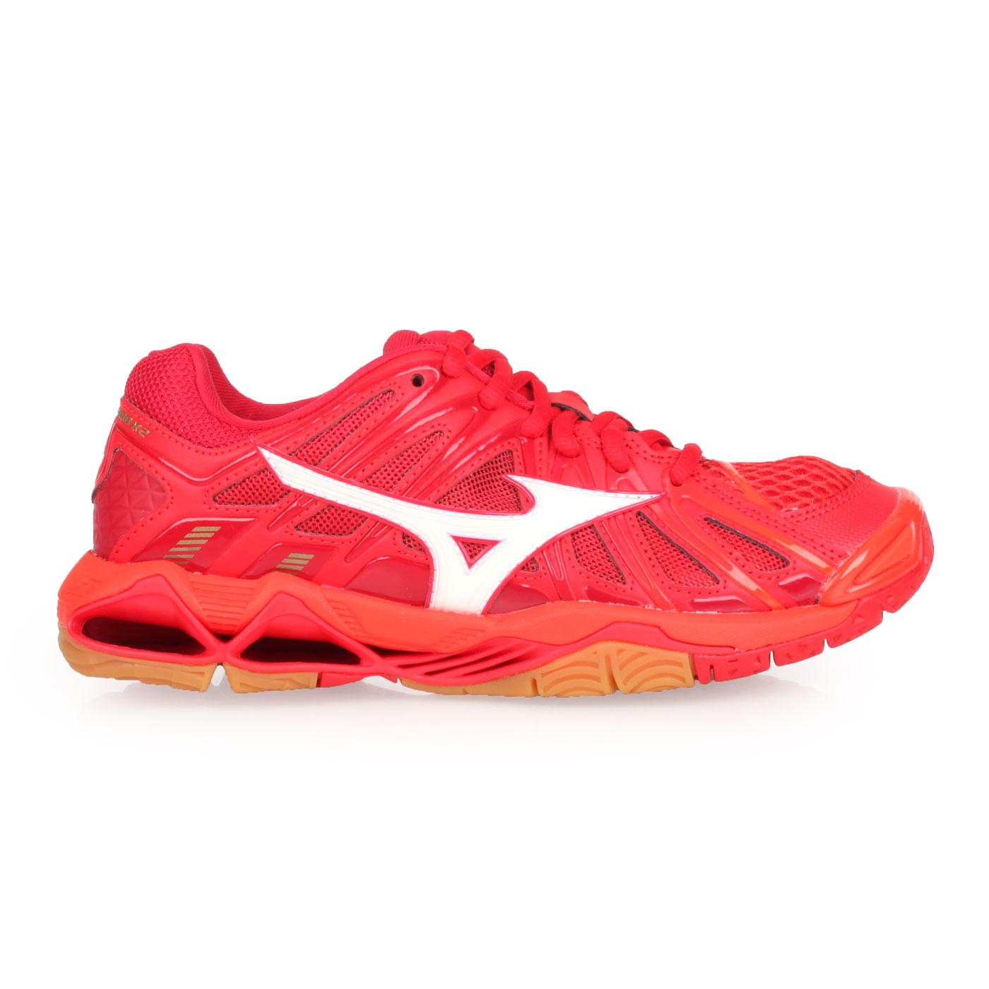 MIZUNO 排球鞋  @WAVE TORNADO X2@V1GA181251 - 橘紅白