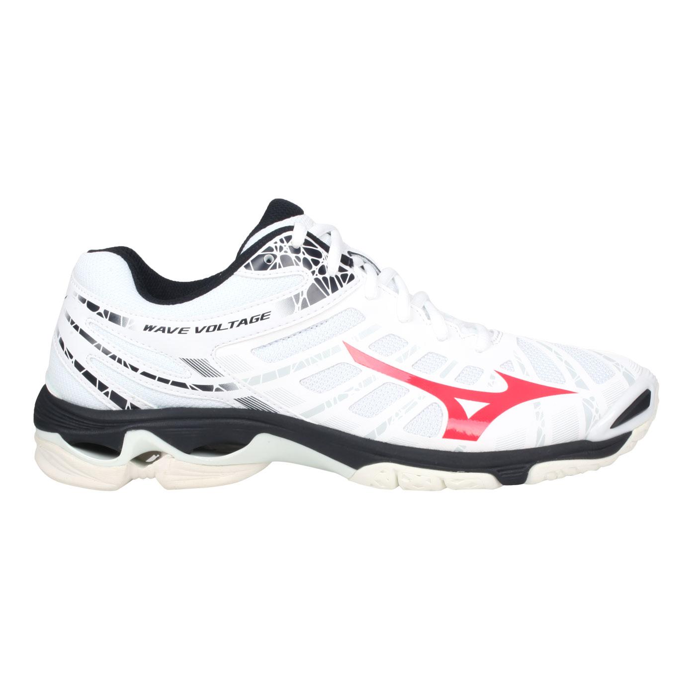 MIZUNO 男款排球鞋  @WAVE VOLTAGE@V1GA196065 - 白黑