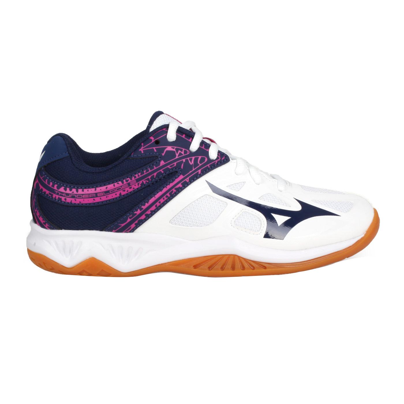 MIZUNO 排球鞋  @THUNDER BLADE 2@V1GA197013 - 白深藍紫