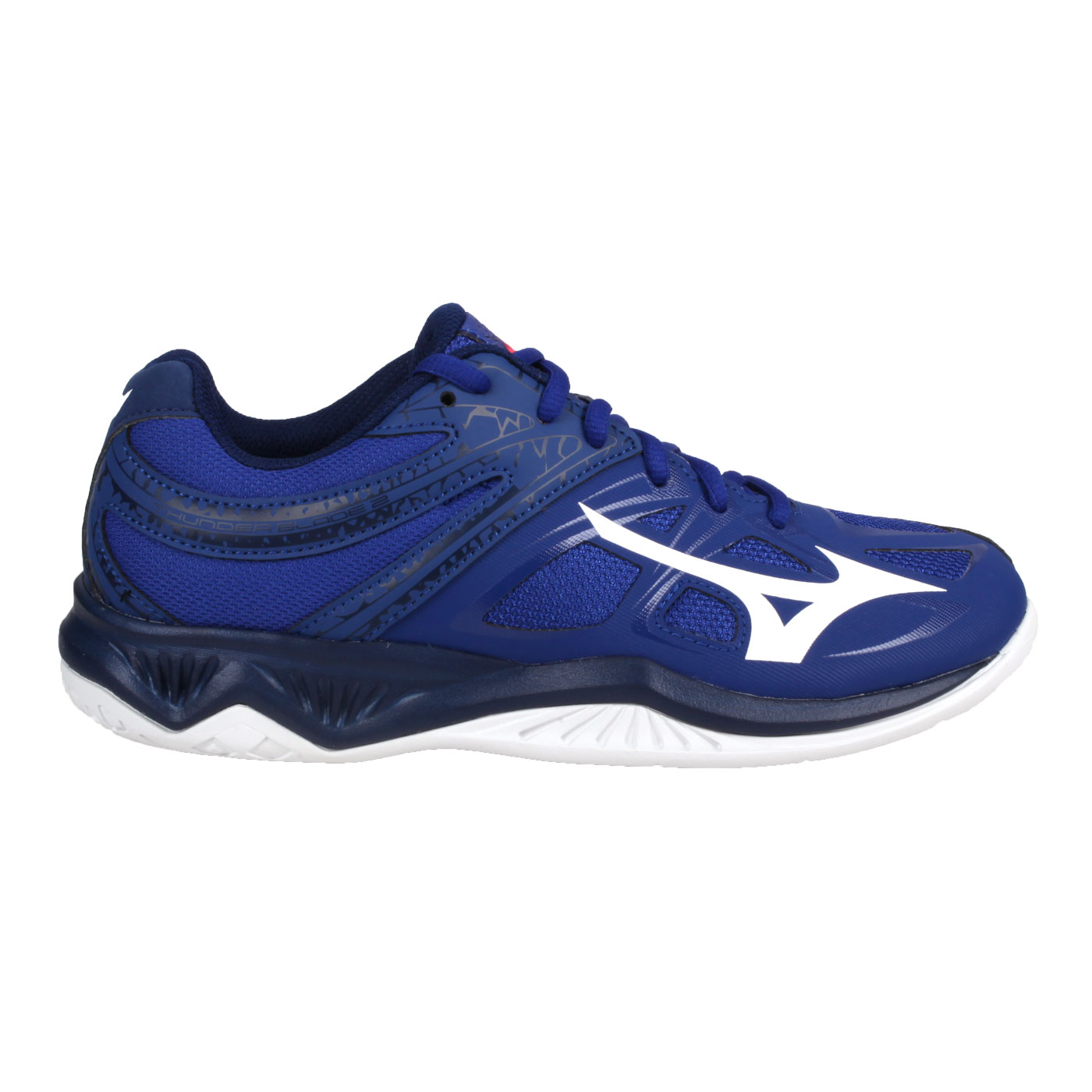 MIZUNO 排球鞋  @THUNDER BLADE 2@V1GA197013 - 深藍白