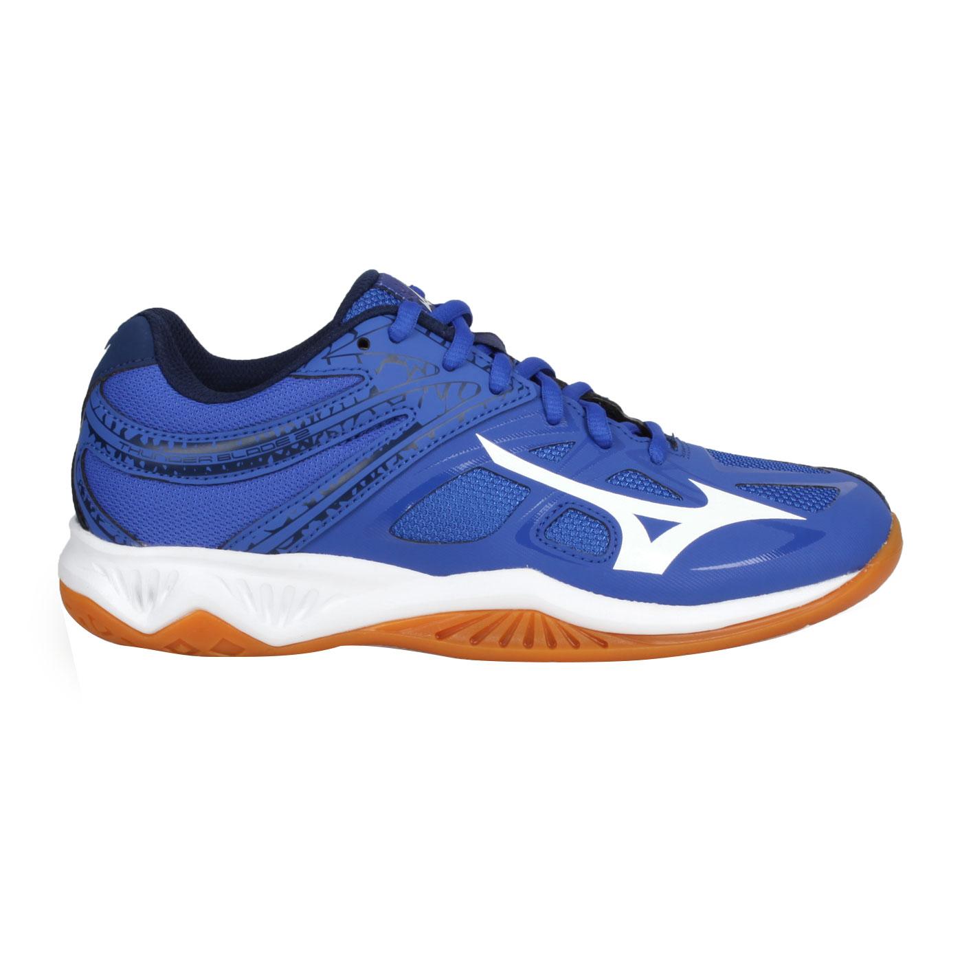 MIZUNO 排球鞋  @THUNDER BLADE 2@V1GA197013 - 藍白丈青